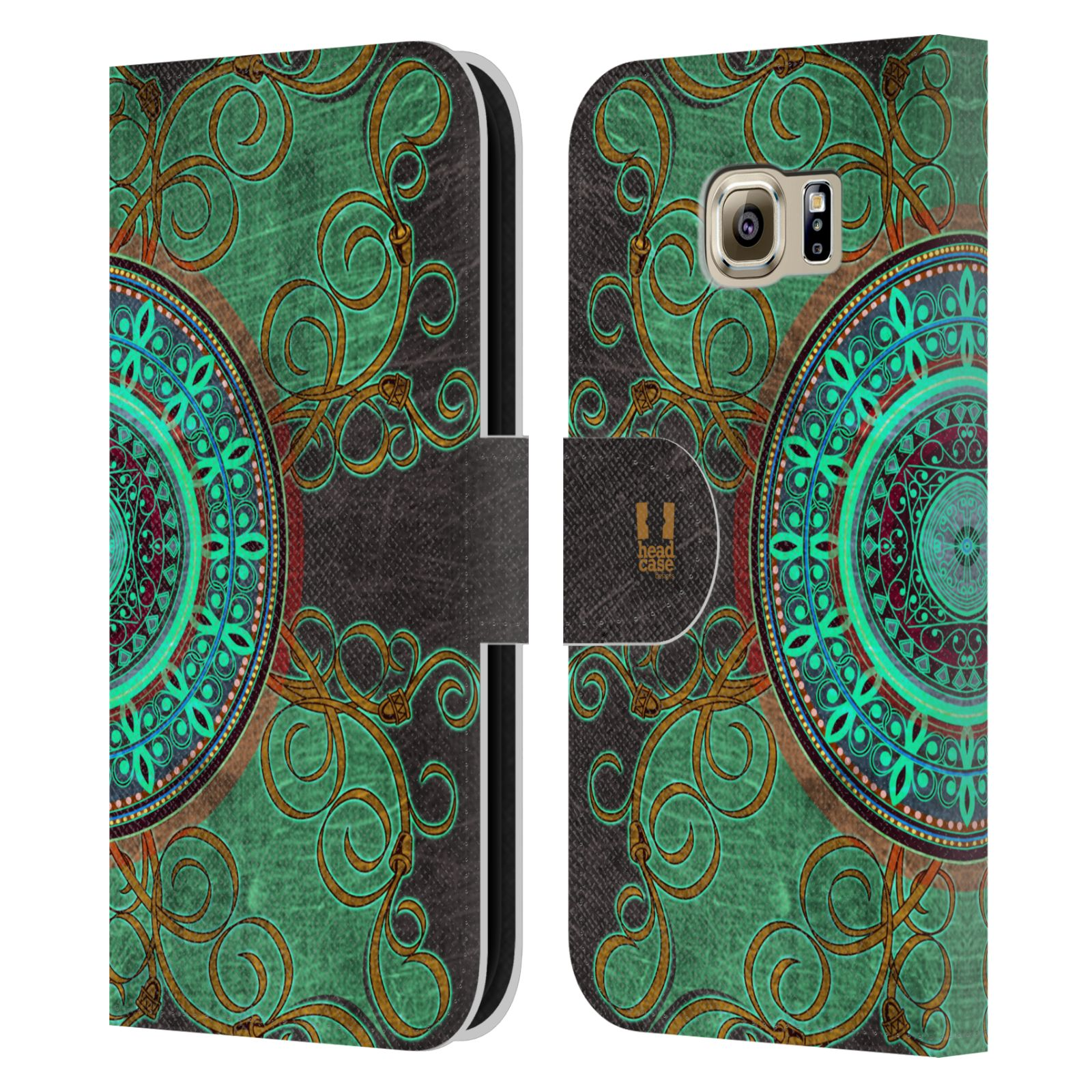 Leather Book Cover Pattern : Head case arabesque pattern leather book wallet cover