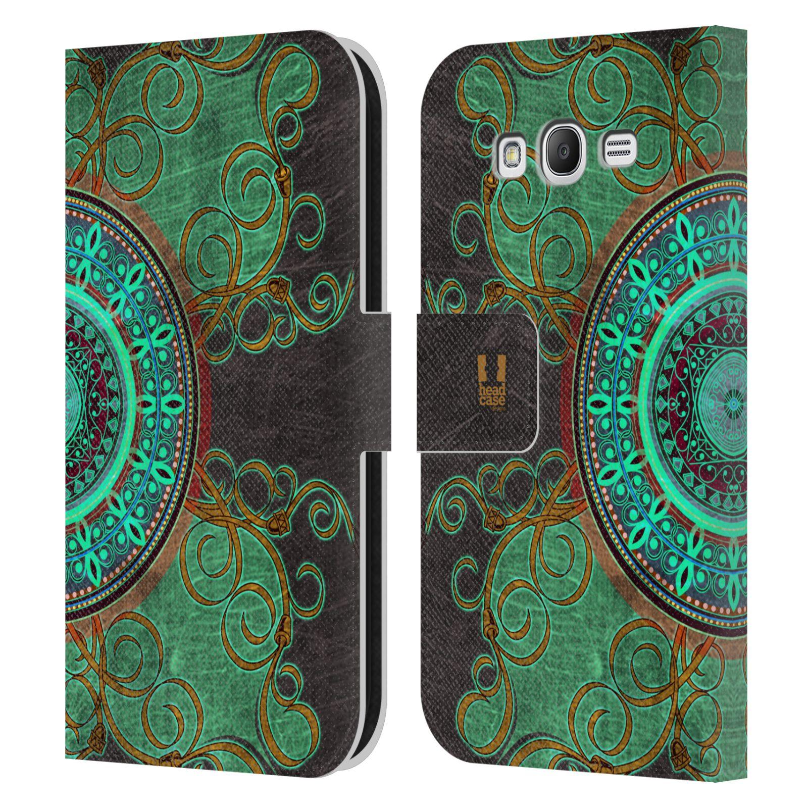 HEAD CASE Flipové pouzdro pro mobil Samsung Galaxy Grand i9080 ARABESKA mandala zelená