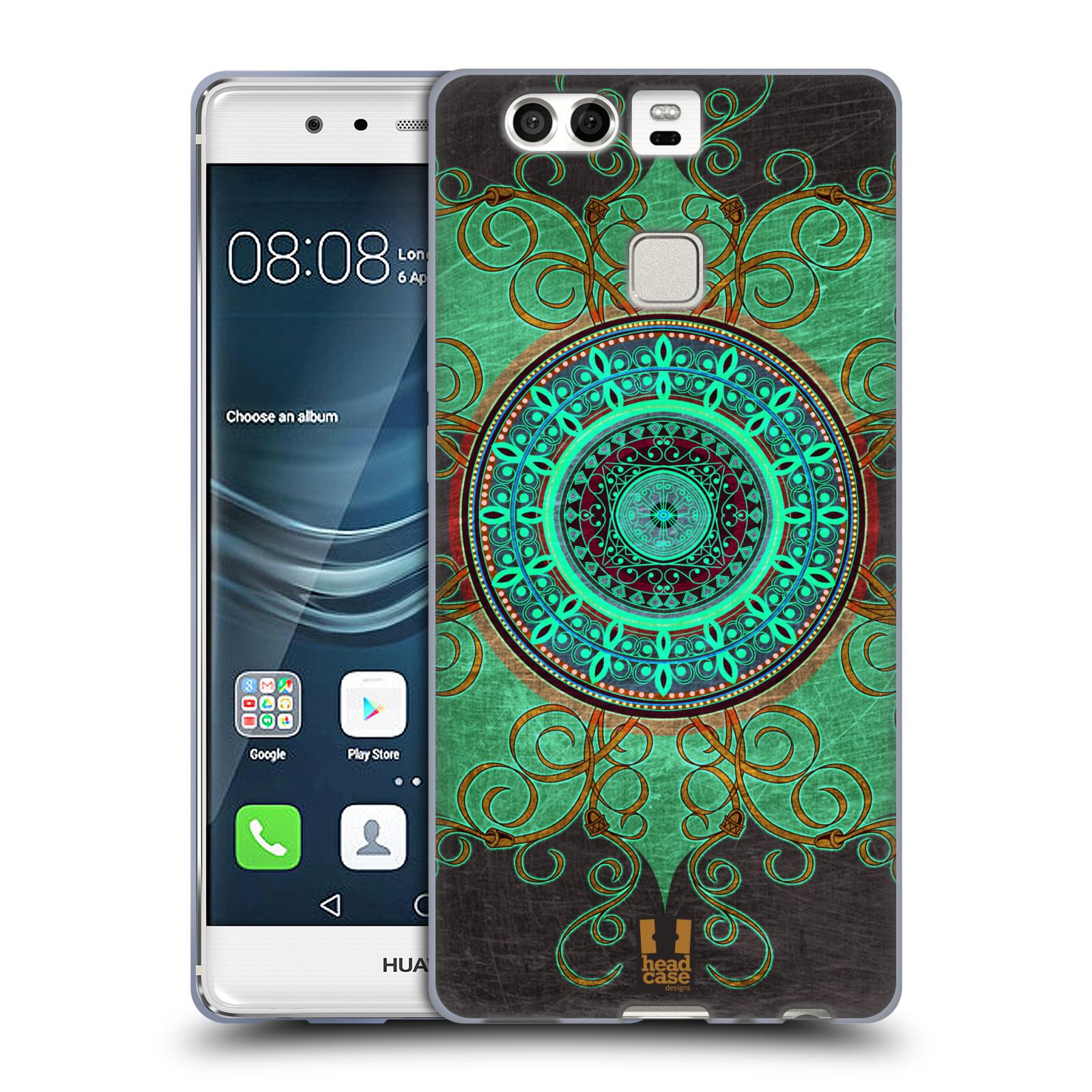 HEAD CASE silikonový obal na mobil Huawei P9 / P9 DUAL SIM vzor ARABESKA MANDALA ZELENÁ