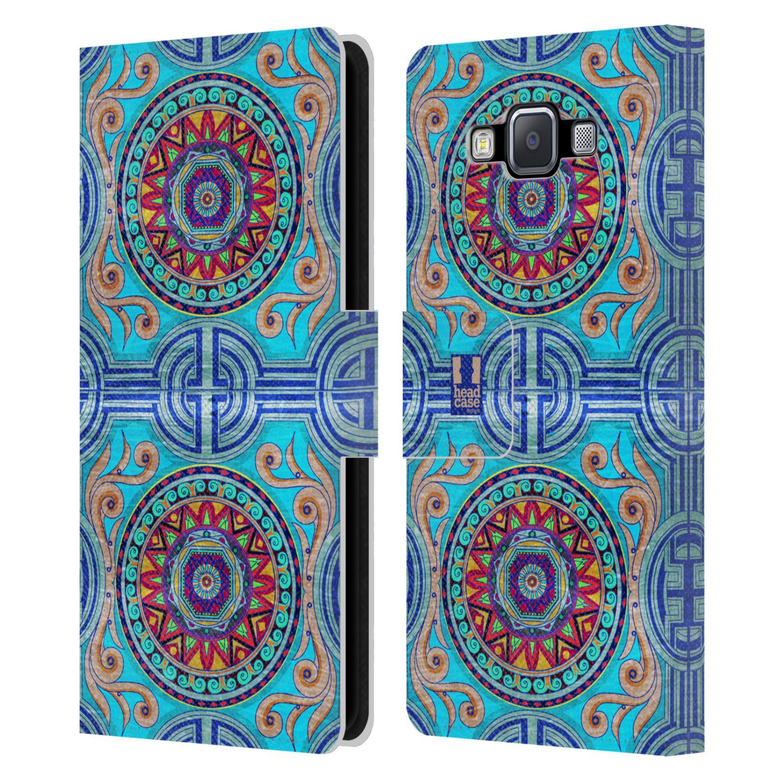 HEAD CASE Flipové pouzdro pro mobil Samsung Galaxy A5 ARABESKA modrá