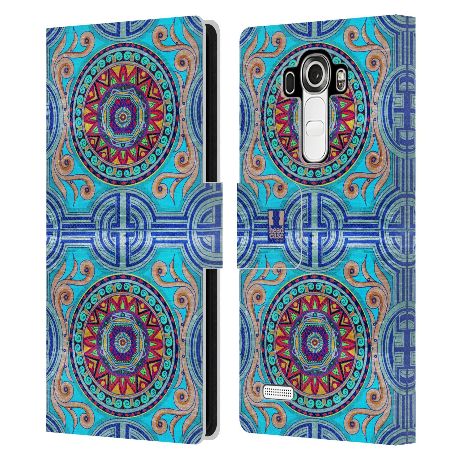 HEAD CASE Flipové pouzdro pro mobil LG G4 (H815) ARABESKA modrá
