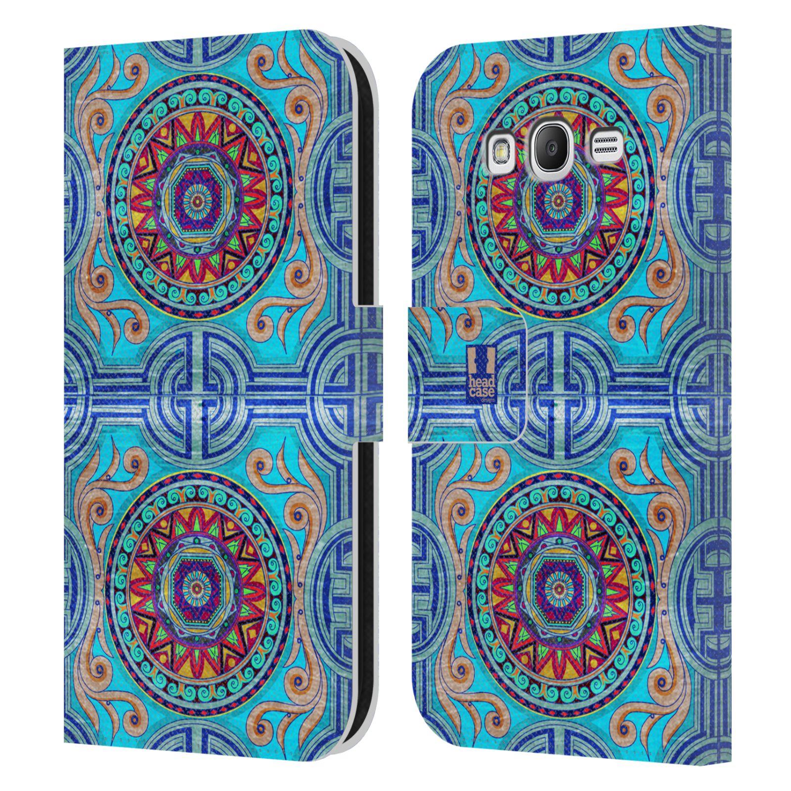 HEAD CASE Flipové pouzdro pro mobil Samsung Galaxy Grand i9080 ARABESKA modrá