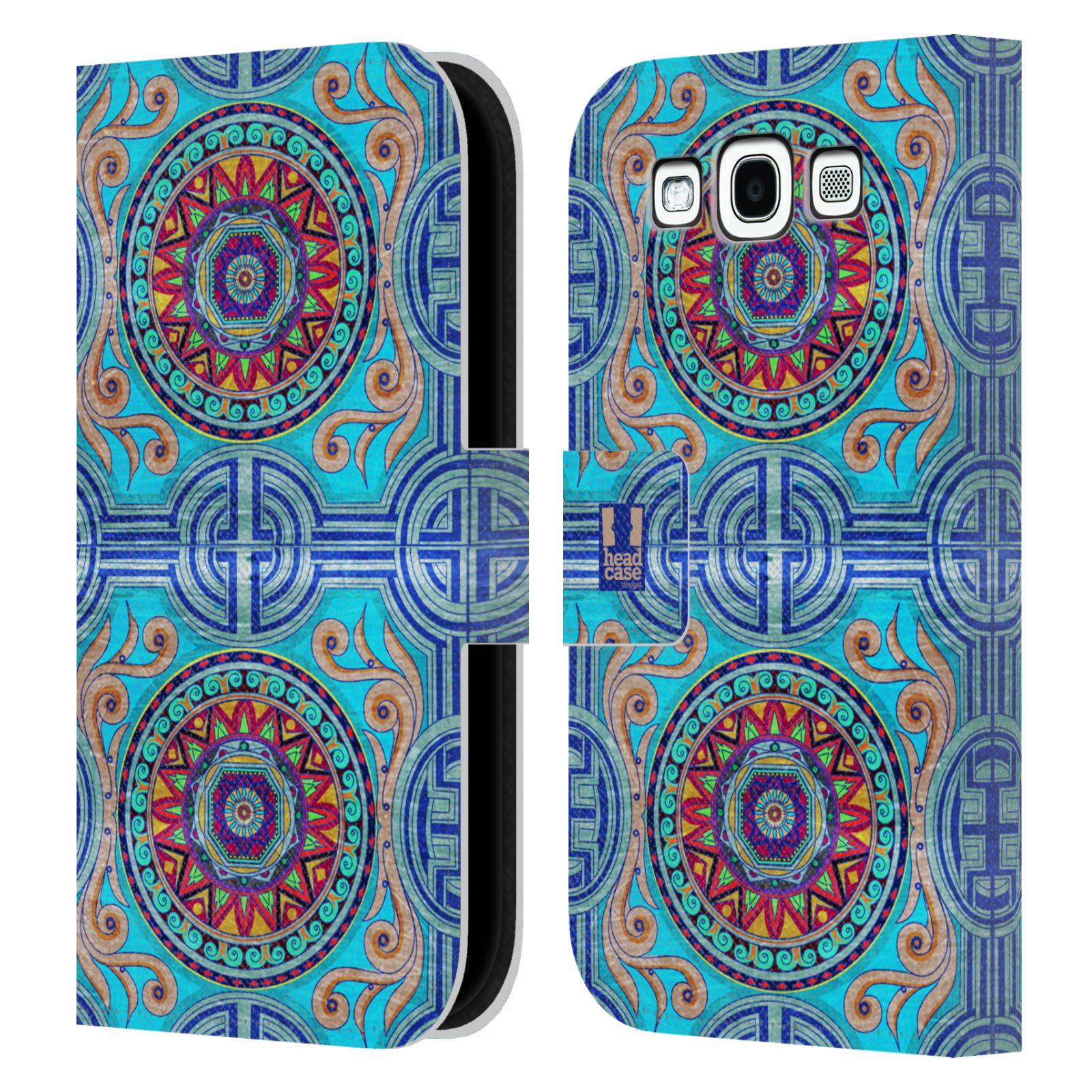 HEAD CASE Flipové pouzdro pro mobil Samsung Galaxy S3 ARABESKA modrá