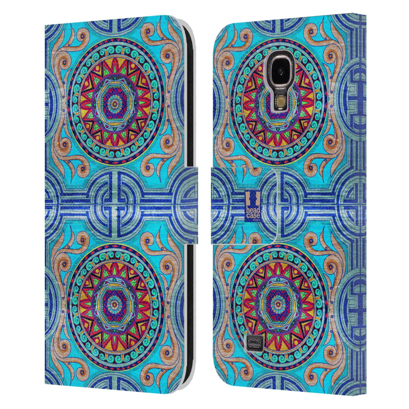 HEAD CASE Flipové pouzdro pro mobil Samsung Galaxy S4 ARABESKA modrá