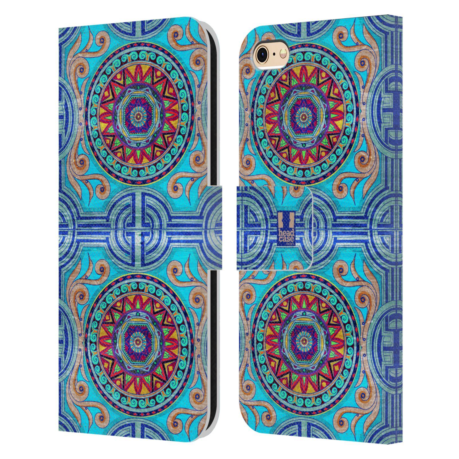 HEAD CASE Flipové pouzdro pro mobil Apple Iphone 6/6s ARABESKA modrá