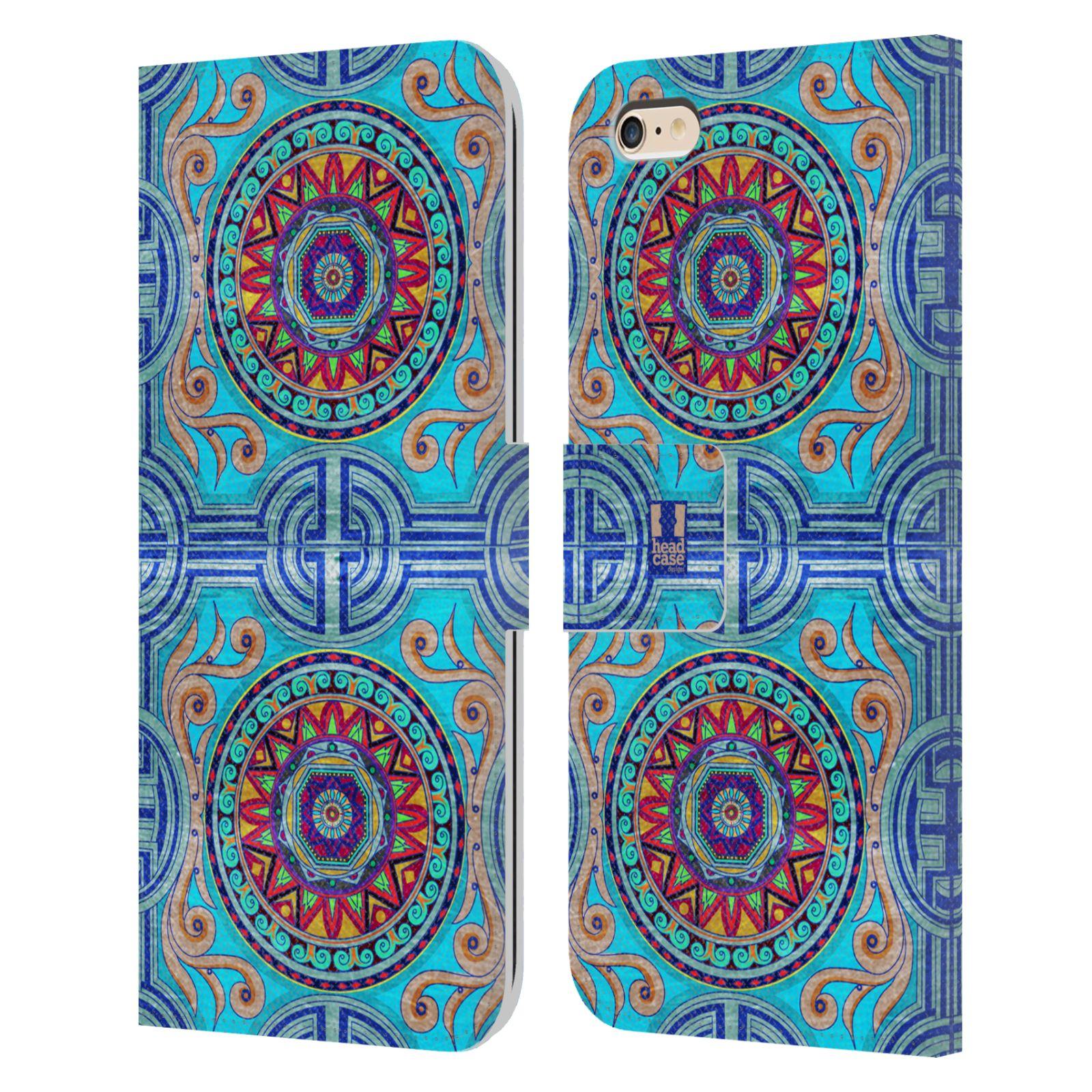 HEAD CASE Flipové pouzdro pro mobil Apple Iphone 6 PLUS / 6S PLUS ARABESKA modrá
