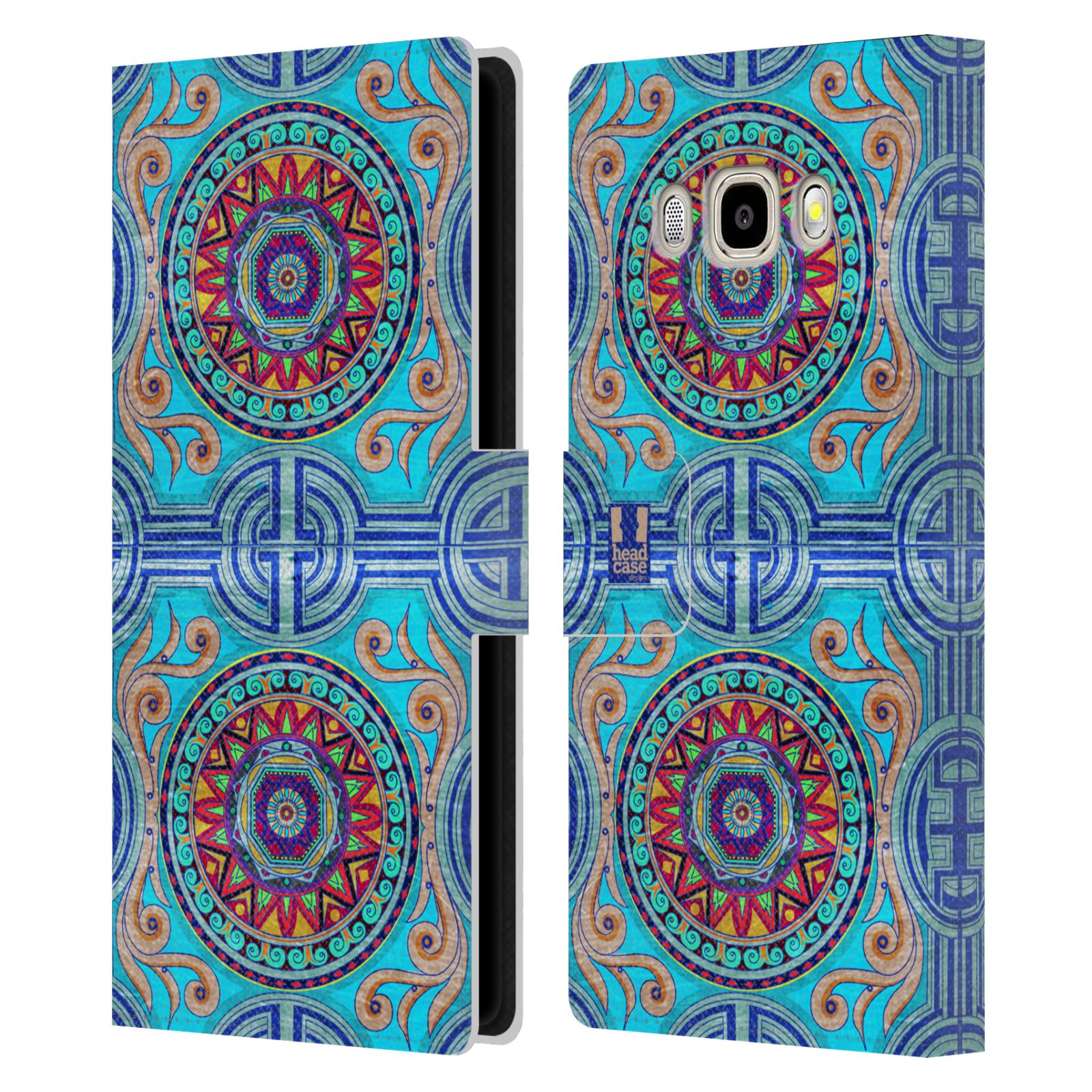 HEAD CASE Flipové pouzdro pro mobil Samsung Galaxy J5 2016 ARABESKA modrá
