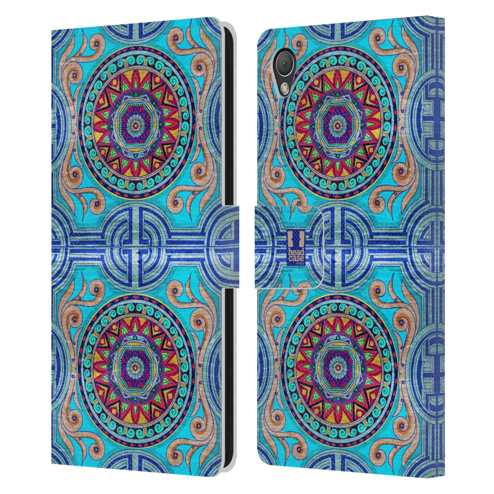 HEAD CASE Flipové pouzdro pro mobil SONY XPERIA Z3 ARABESKA modrá