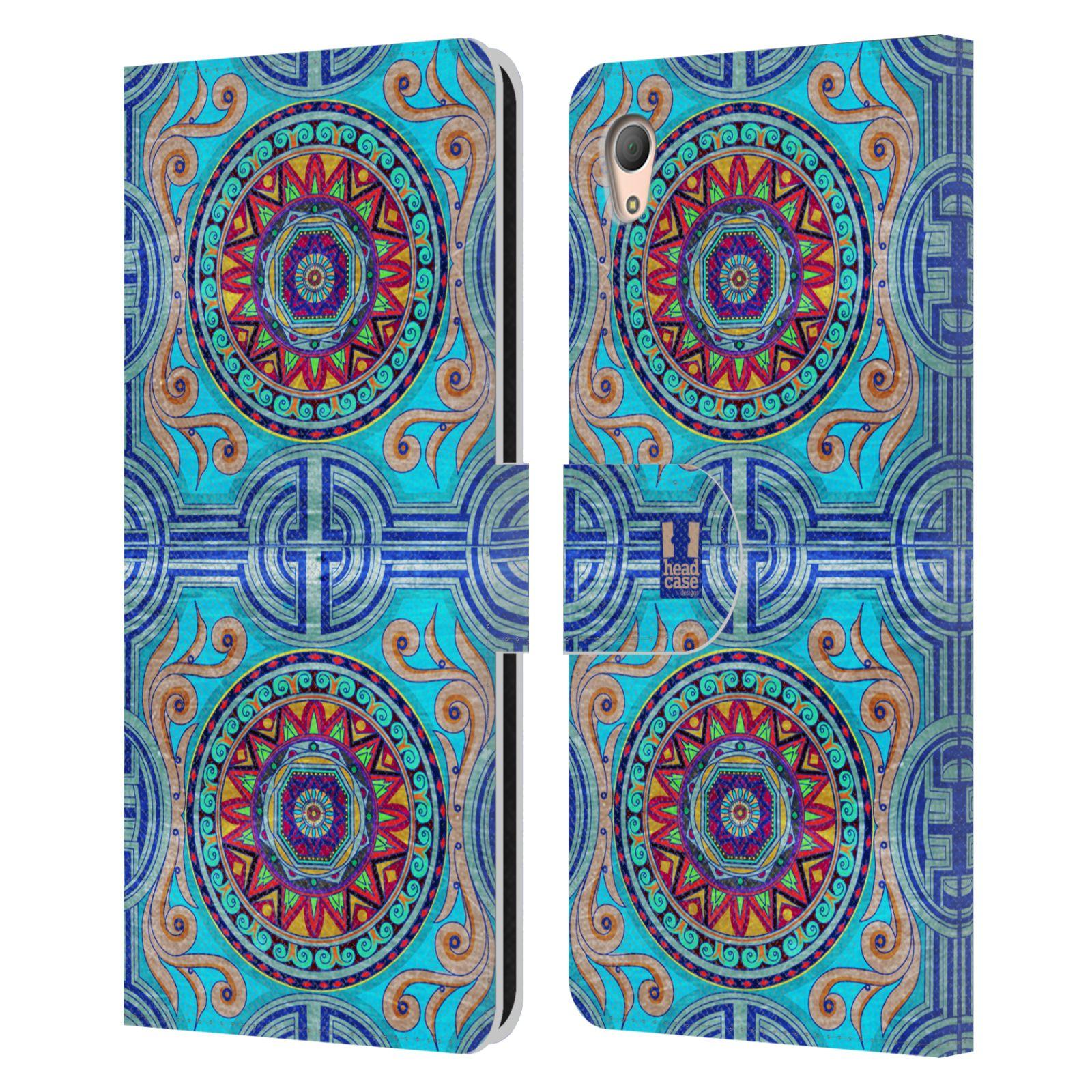 HEAD CASE Flipové pouzdro pro mobil SONY XPERIA Z3+ (PLUS) ARABESKA modrá
