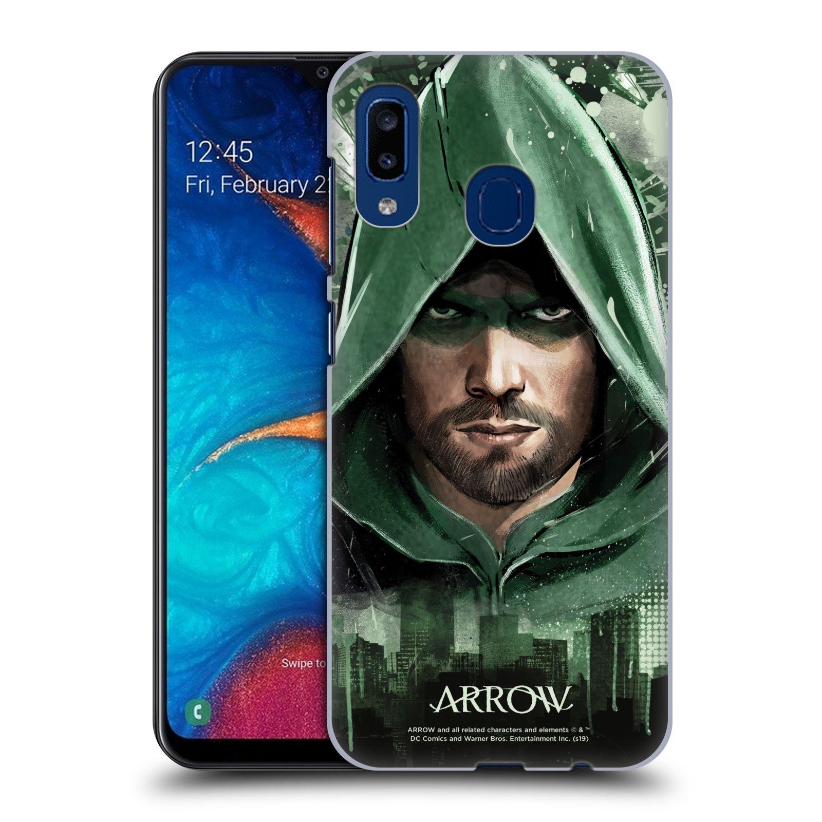 Pouzdro na mobil Samsung Galaxy A20 - HEAD CASE - Seriál Arrow - kreslený motiv
