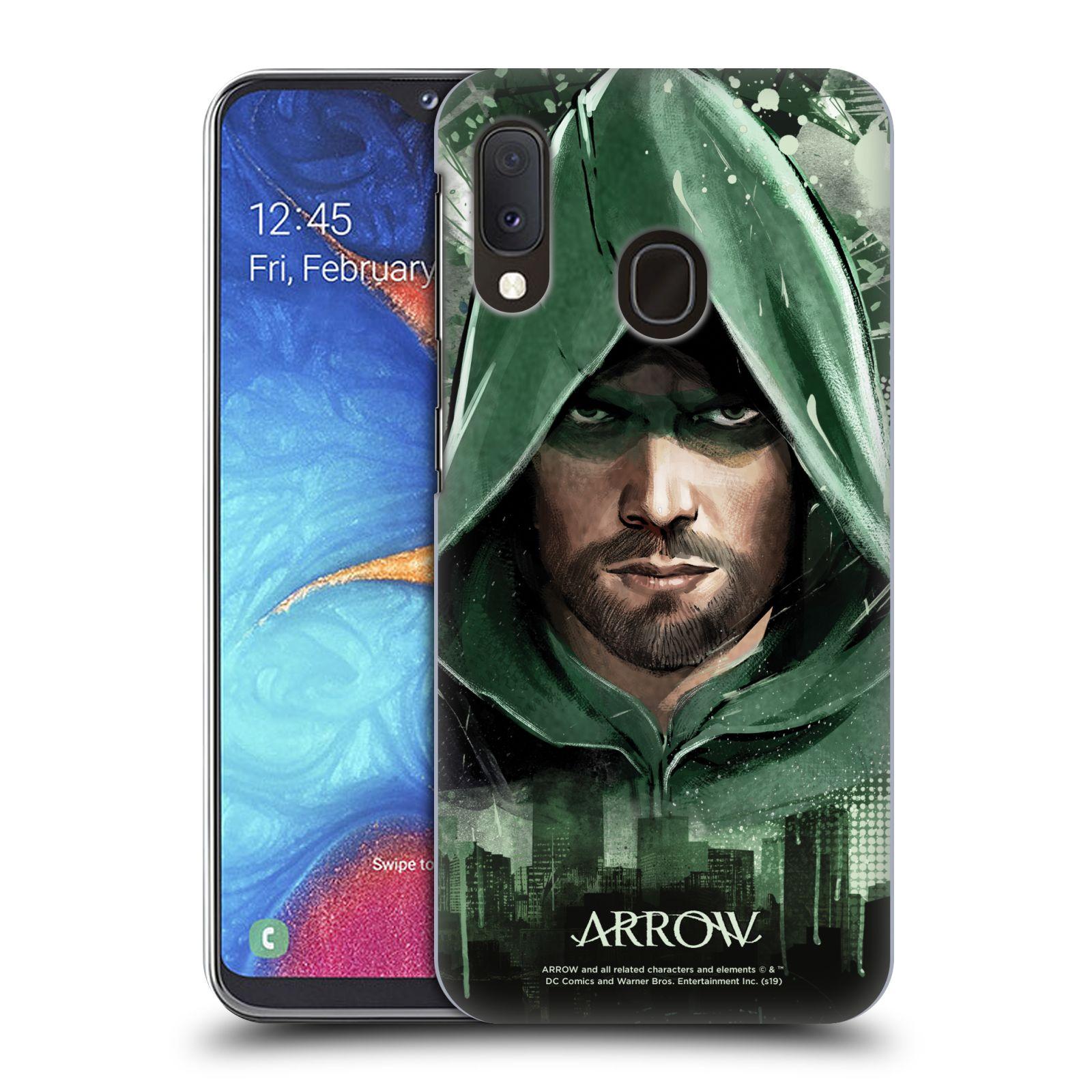 Pouzdro na mobil Samsung Galaxy A20e - HEAD CASE - Seriál Arrow - kreslený motiv