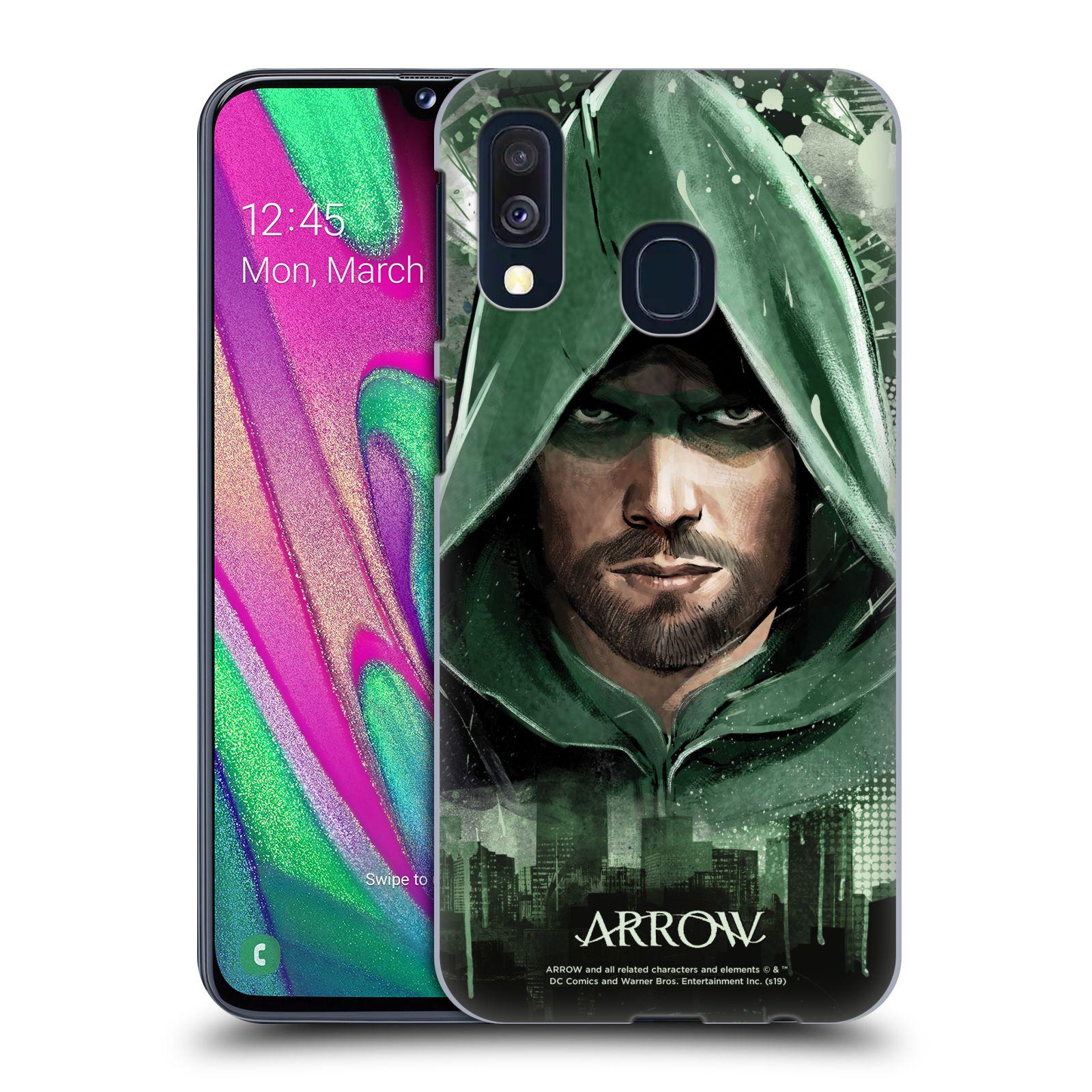 Pouzdro na mobil Samsung Galaxy A40 - HEAD CASE - Seriál Arrow - kreslený motiv