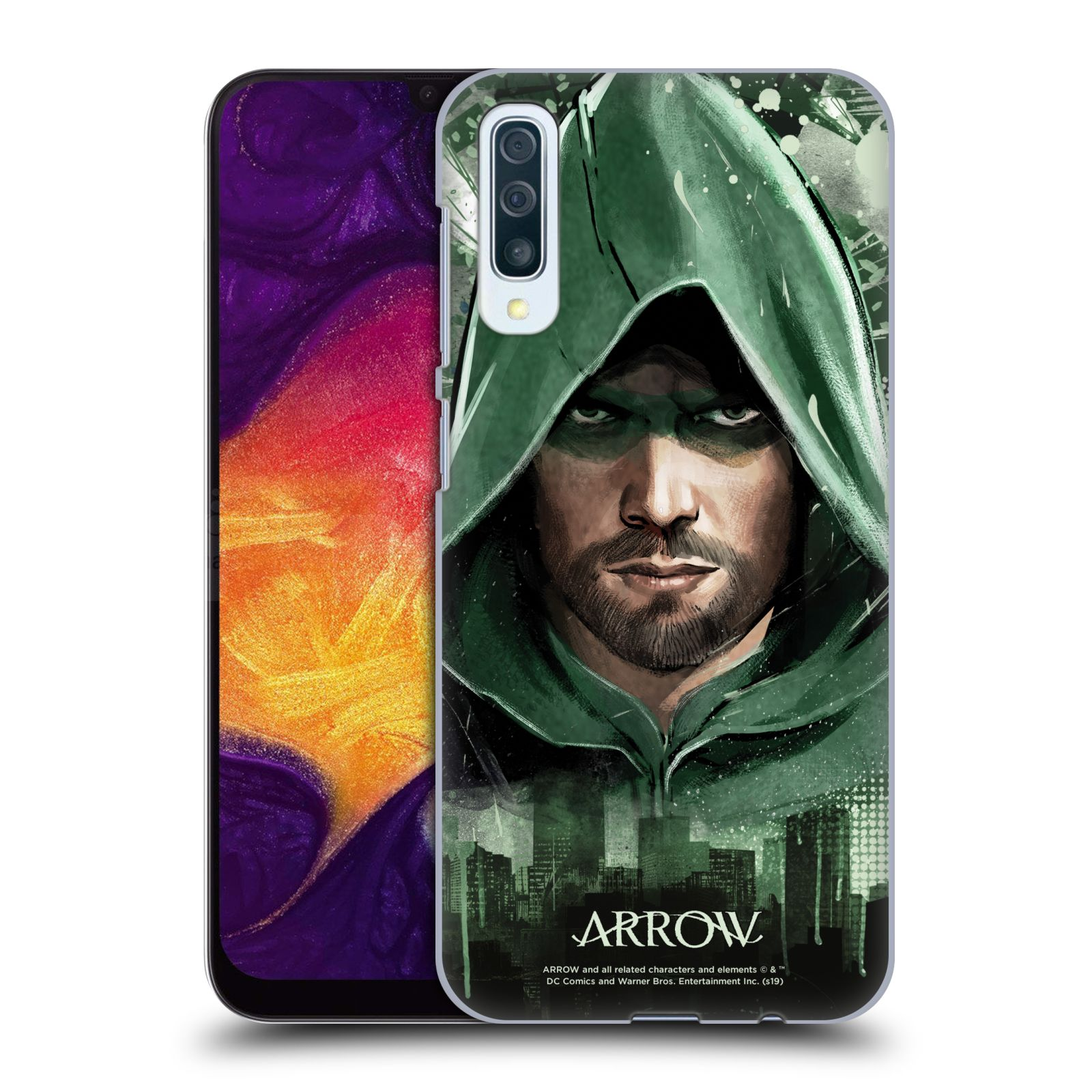Pouzdro na mobil Samsung Galaxy A50 - HEAD CASE - Seriál Arrow - kreslený motiv