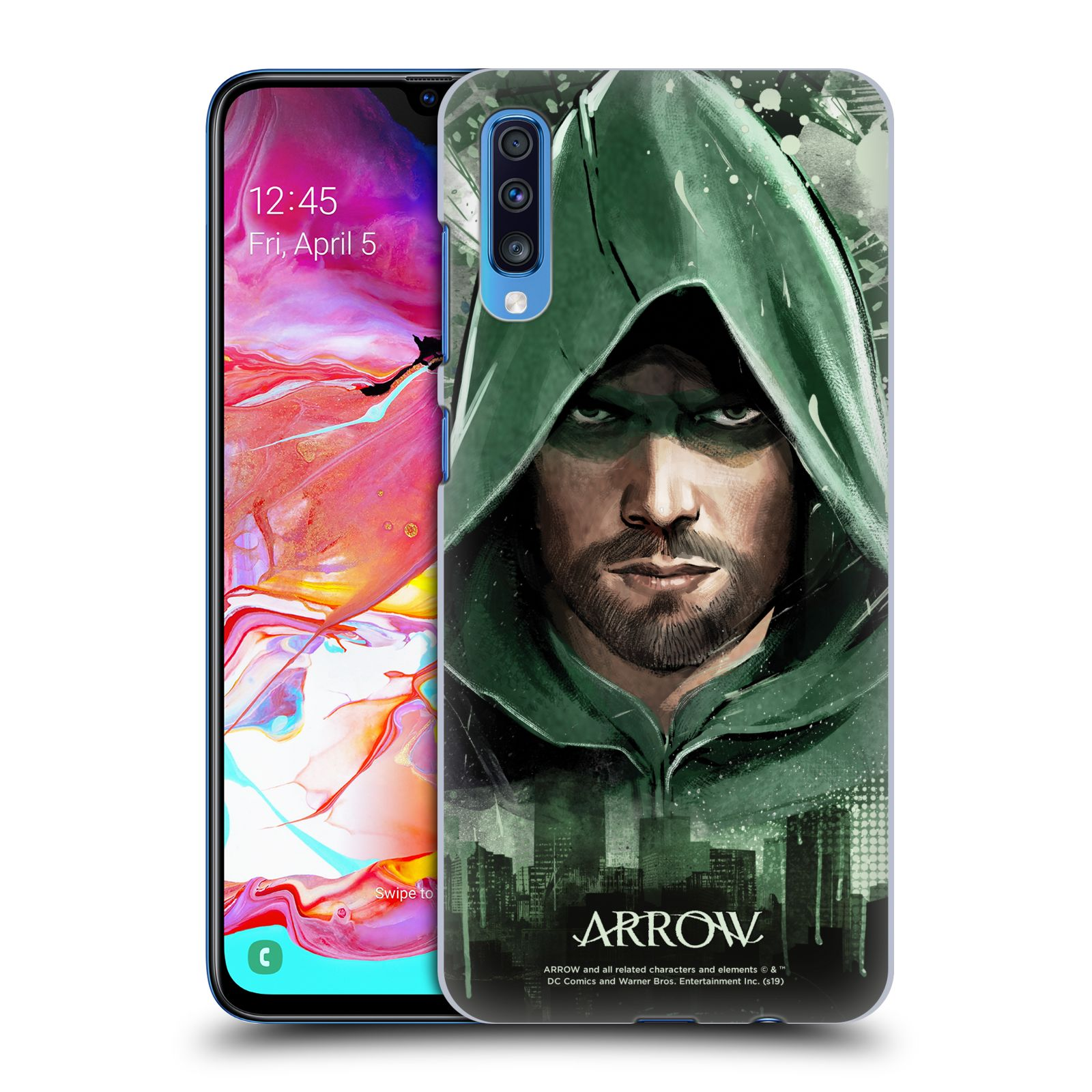 Pouzdro na mobil Samsung Galaxy A70 - HEAD CASE - Seriál Arrow - kreslený motiv