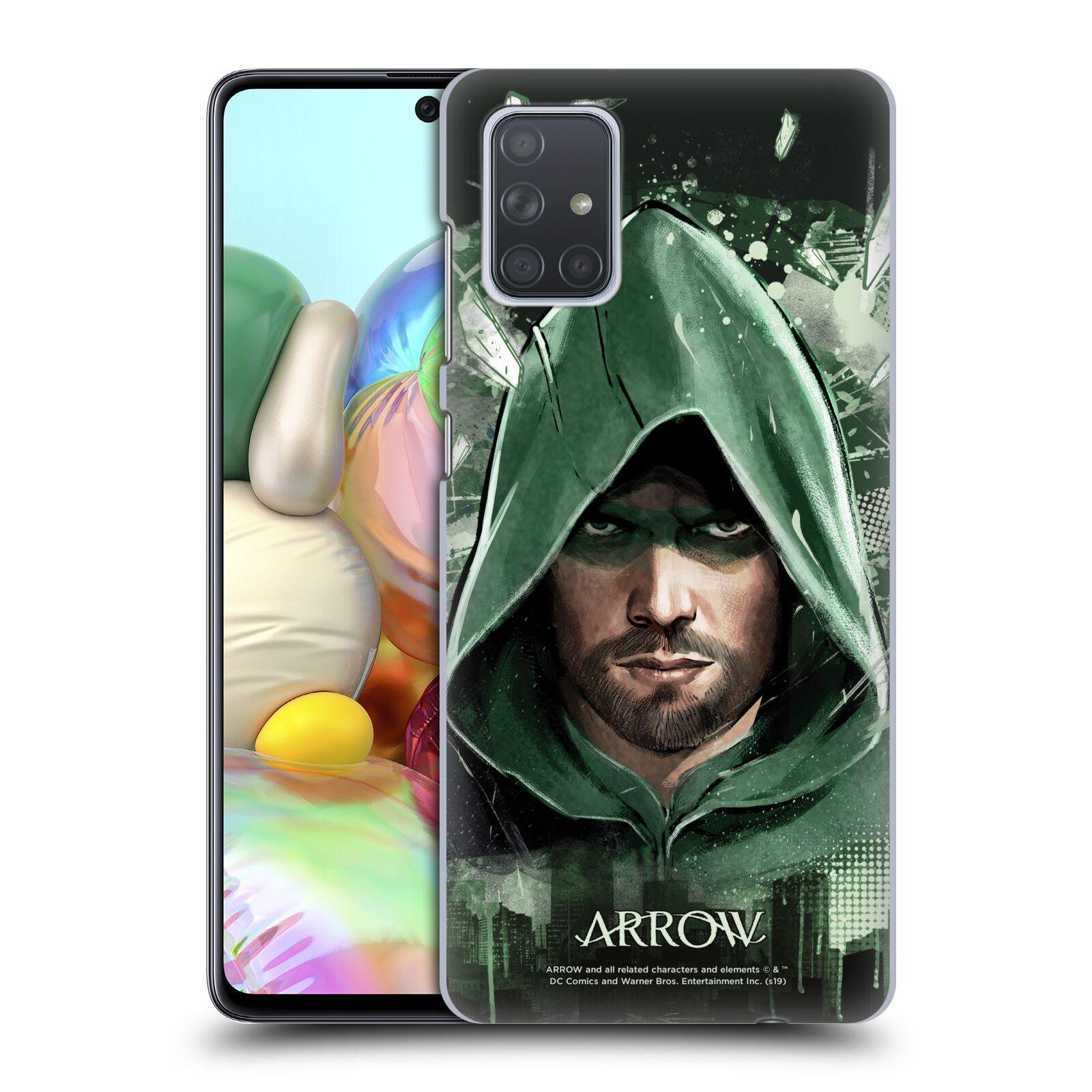 Pouzdro na mobil Samsung Galaxy A71 - HEAD CASE - Seriál Arrow - kreslený motiv