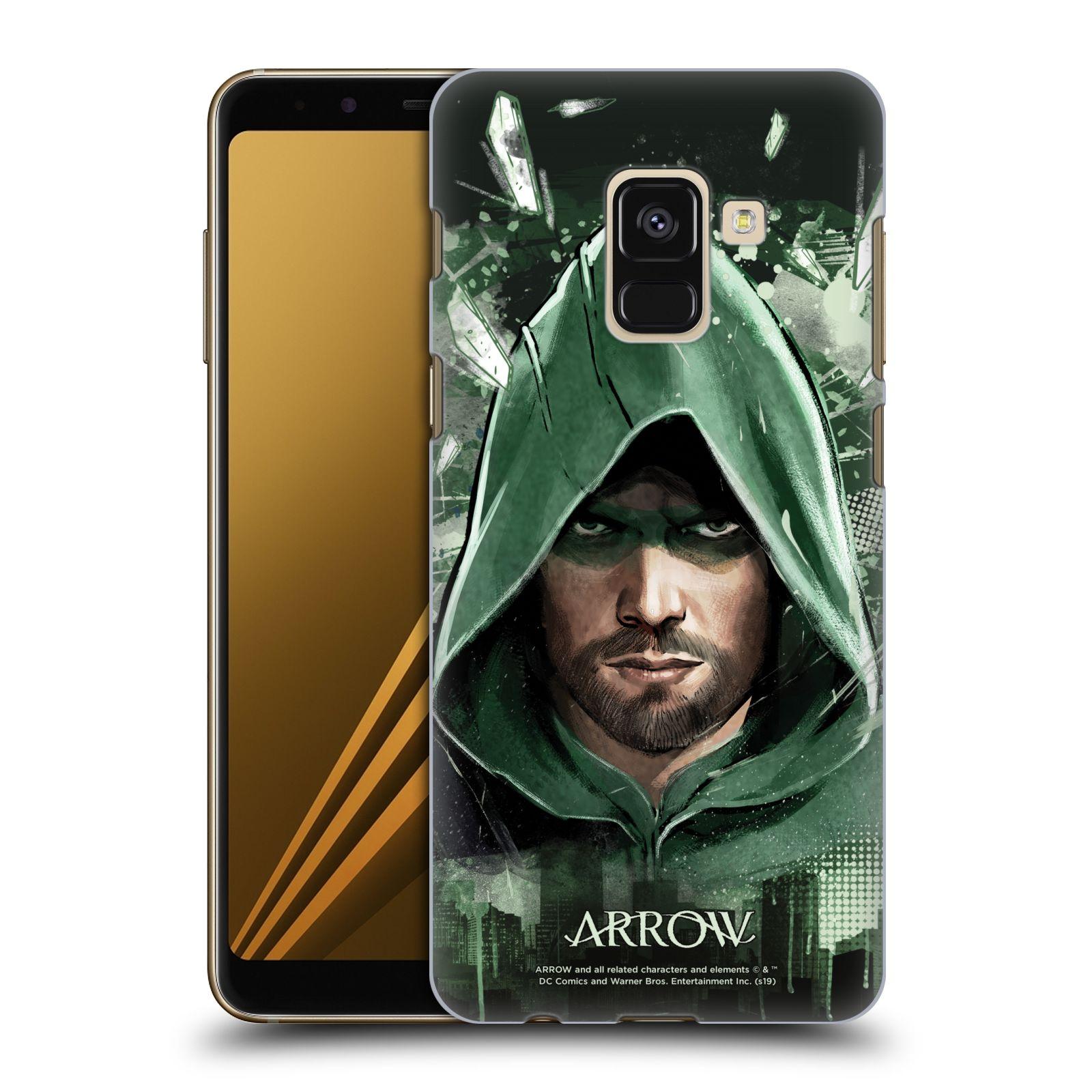 Pouzdro na mobil Samsung Galaxy A8+ 2018, A8 PLUS 2018 - HEAD CASE - Seriál Arrow - kreslený motiv