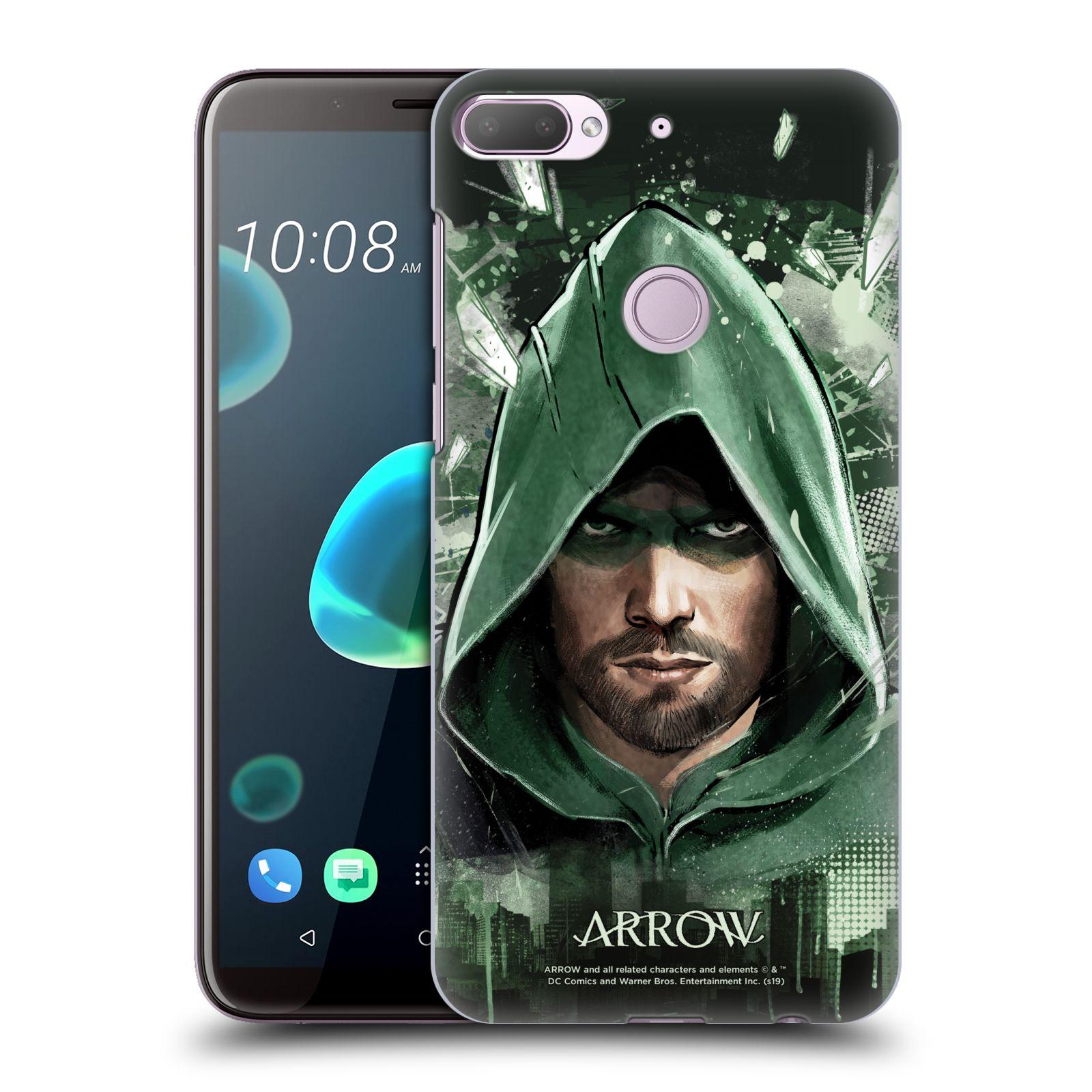 Pouzdro na mobil HTC Desire 12+ / Desire 12+ DUAL SIM - HEAD CASE - Seriál Arrow - kreslený motiv