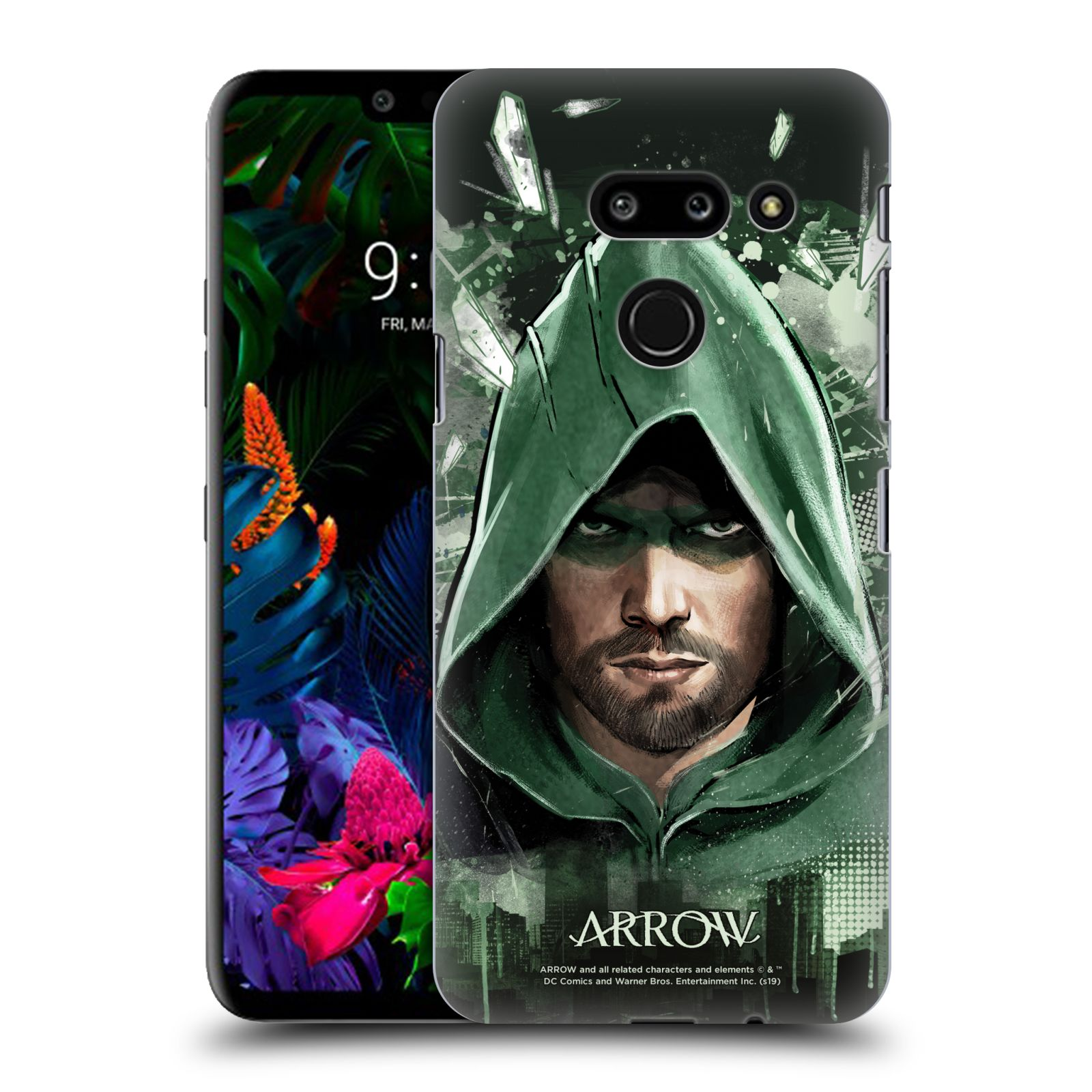 Pouzdro na mobil LG G8 ThinQ - HEAD CASE - Seriál Arrow - kreslený motiv