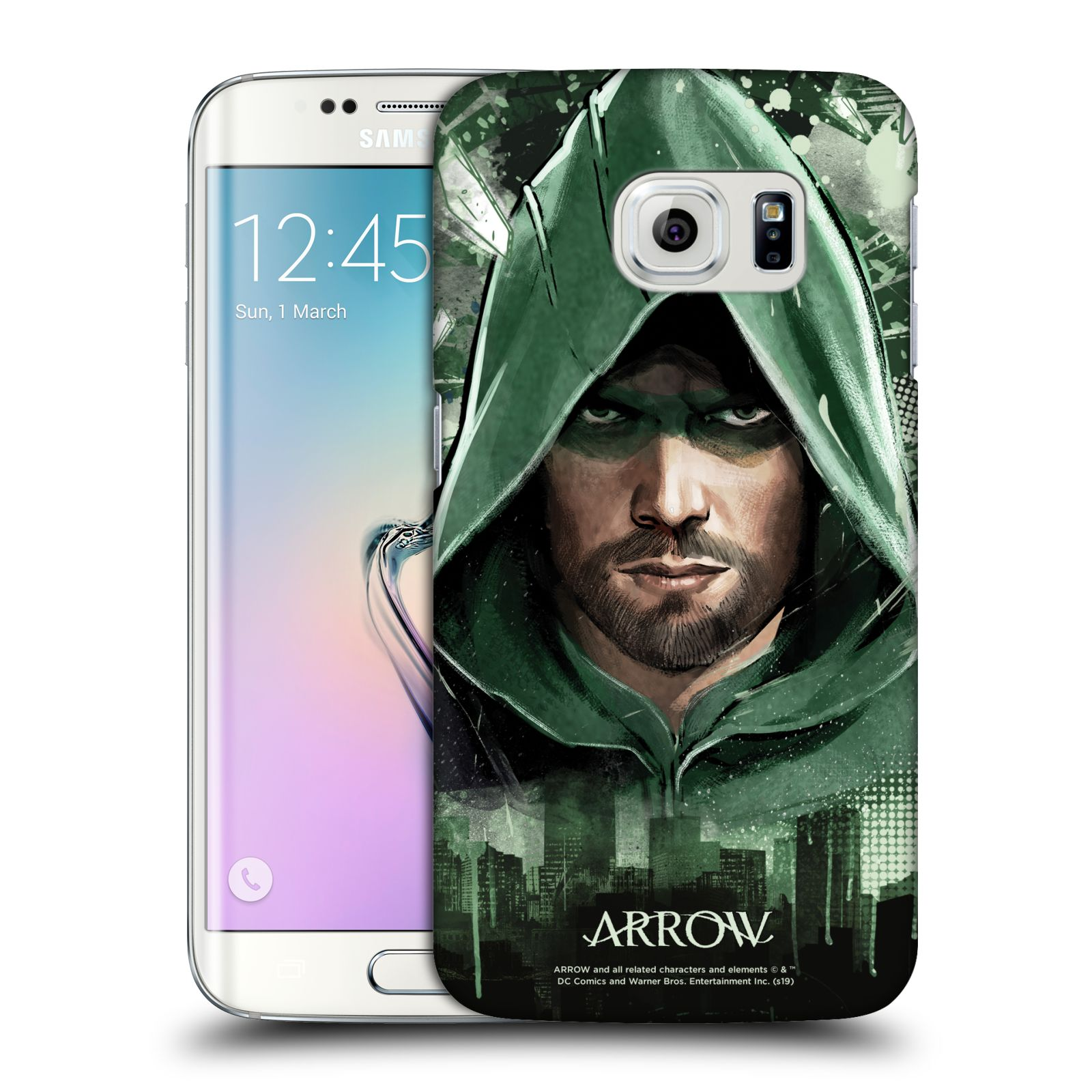 Pouzdro na mobil Samsung Galaxy S6 EDGE - HEAD CASE - Seriál Arrow - kreslený motiv
