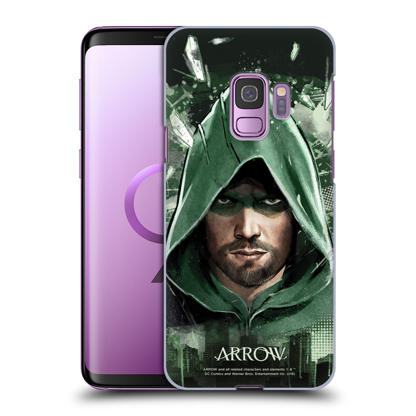 Pouzdro na mobil Samsung Galaxy S9 - HEAD CASE - Seriál Arrow - kreslený motiv