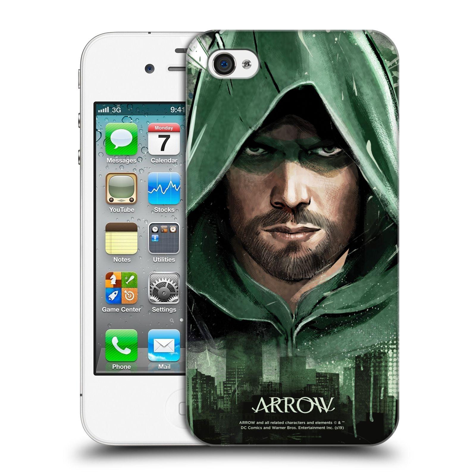 Pouzdro na mobil Apple Iphone 4/4S - HEAD CASE - Seriál Arrow - kreslený motiv