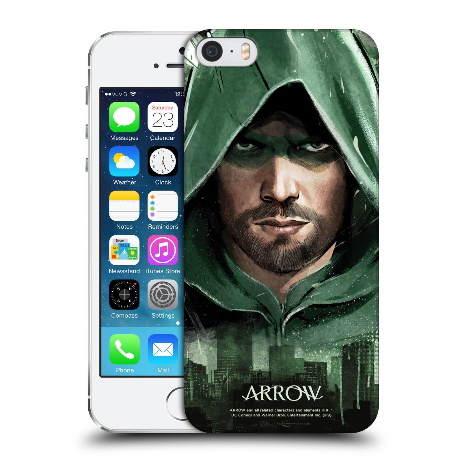 Pouzdro na mobil Apple Iphone 5/5S - HEAD CASE - Seriál Arrow - kreslený motiv