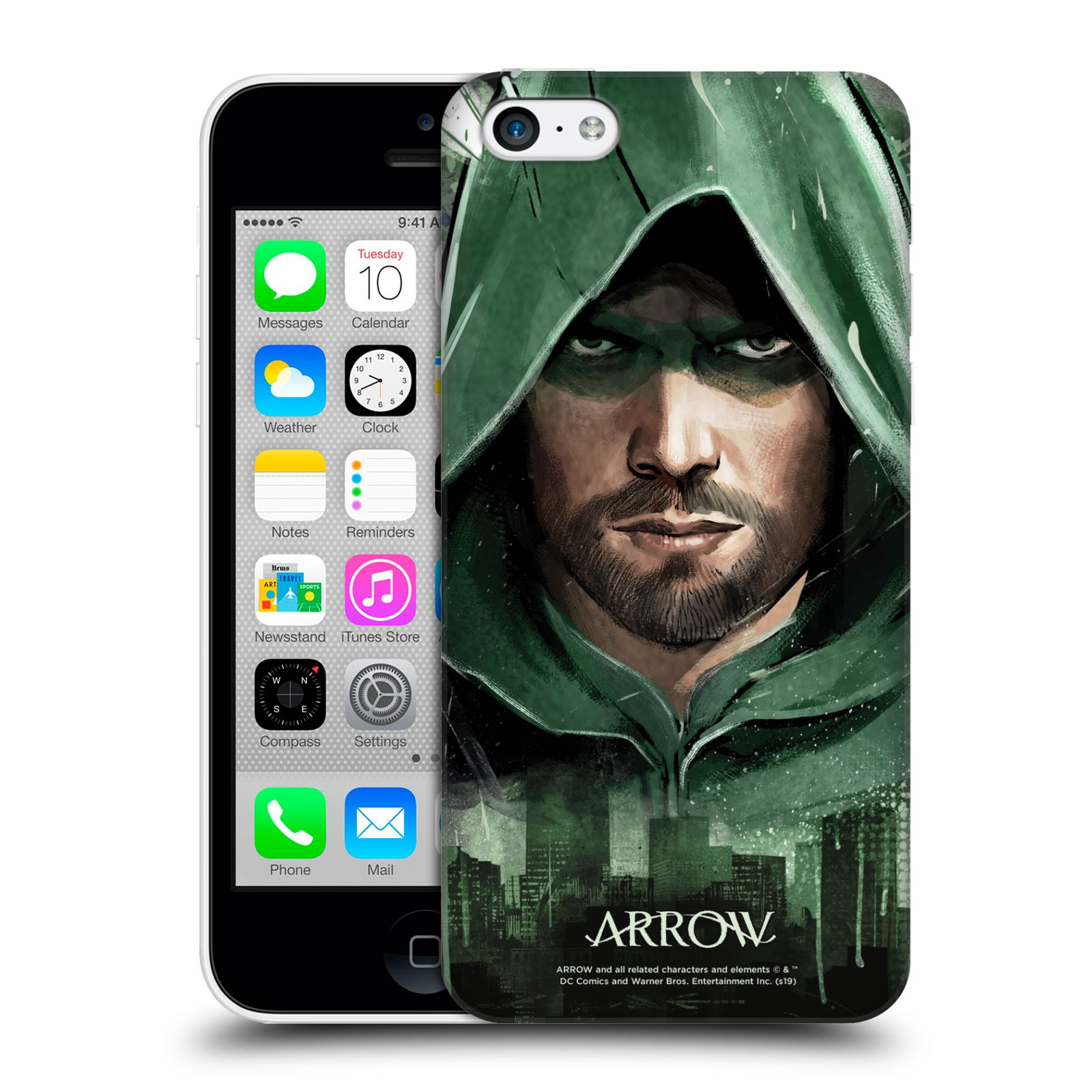 Pouzdro na mobil Apple Iphone 5C - HEAD CASE - Seriál Arrow - kreslený motiv