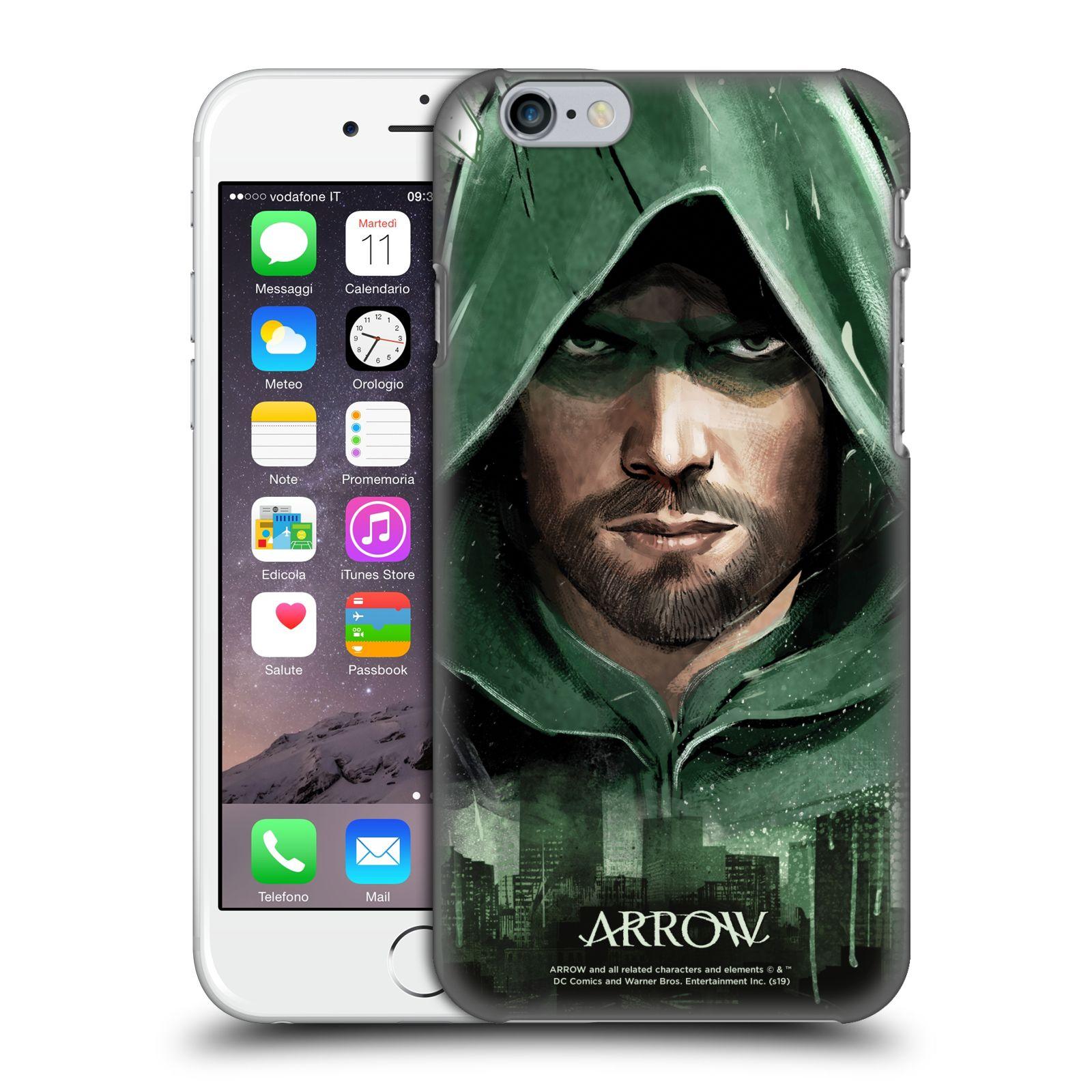 Pouzdro na mobil Apple Iphone 6/6S - HEAD CASE - Seriál Arrow - kreslený motiv