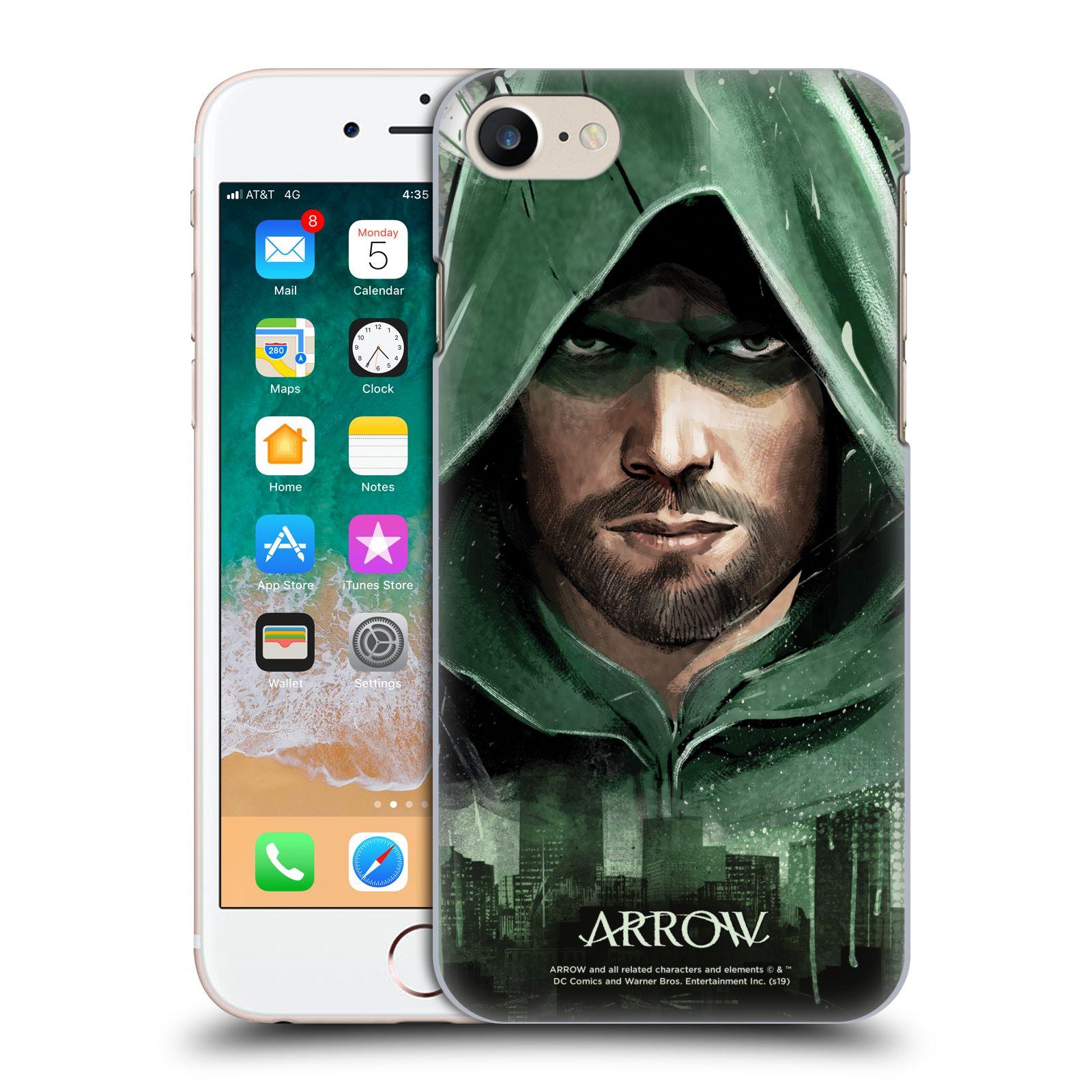 Pouzdro na mobil Apple Iphone 7/8 - HEAD CASE - Seriál Arrow - kreslený motiv