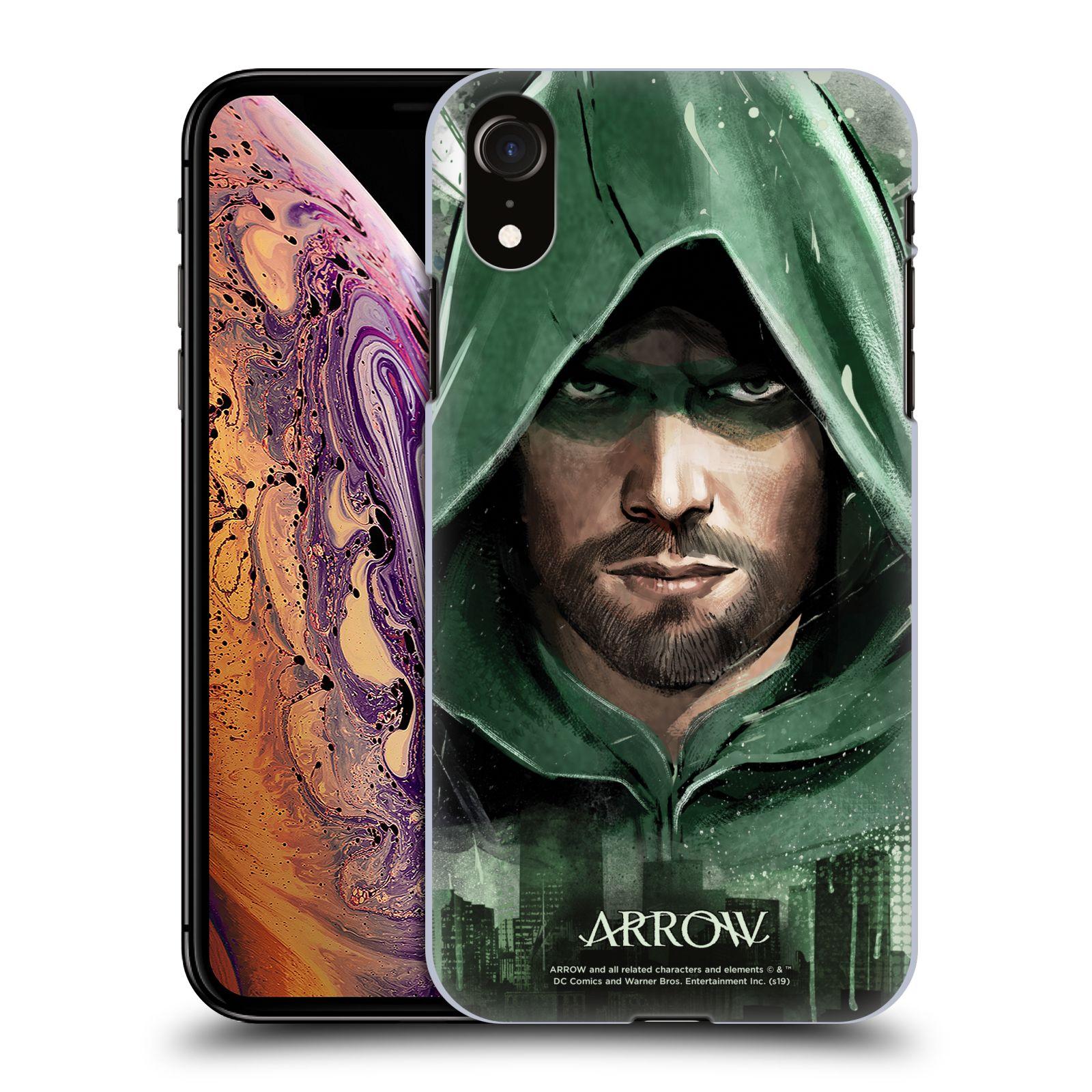 Pouzdro na mobil Apple Iphone XR - HEAD CASE - Seriál Arrow - kreslený motiv