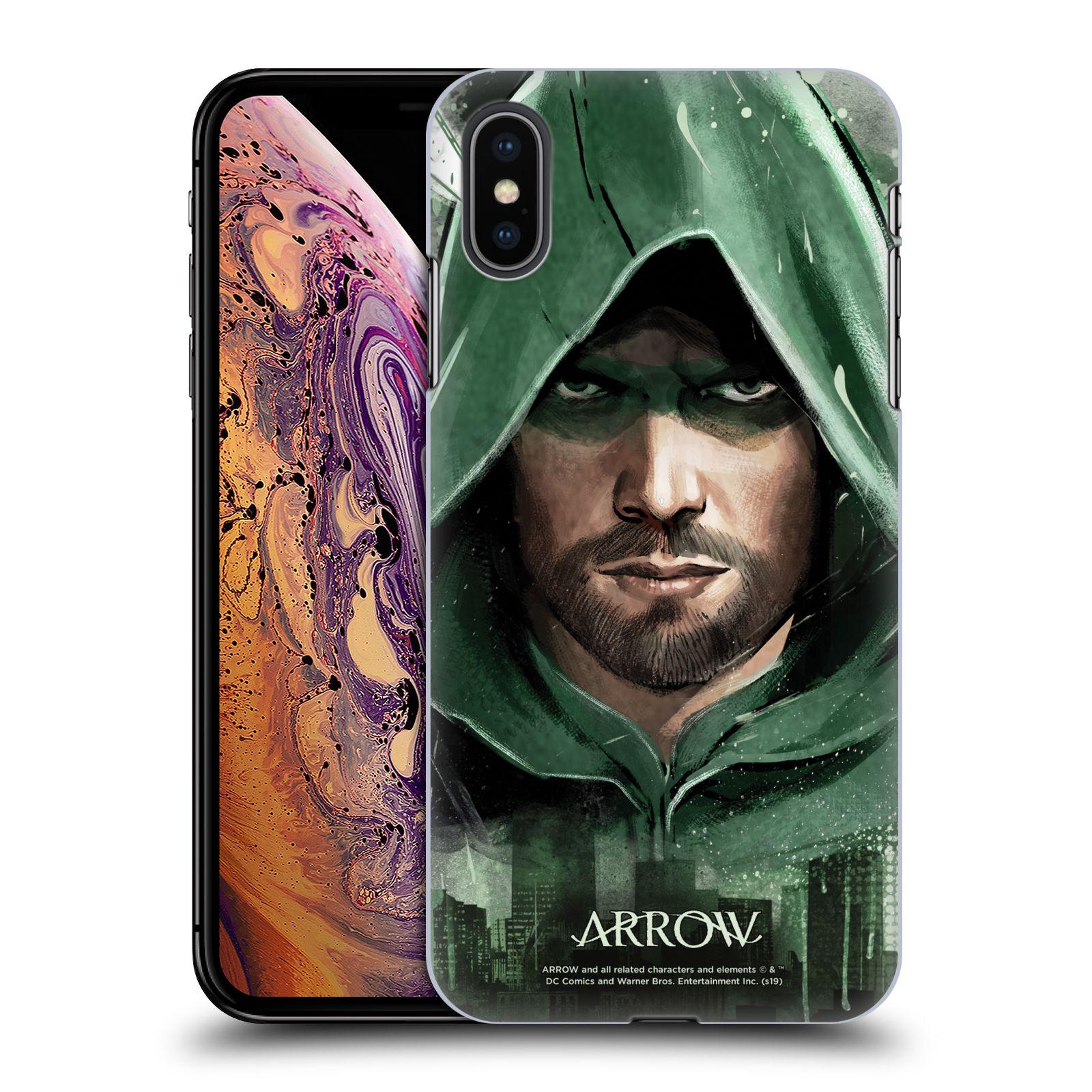 Pouzdro na mobil Apple Iphone XS MAX - HEAD CASE - Seriál Arrow - kreslený motiv