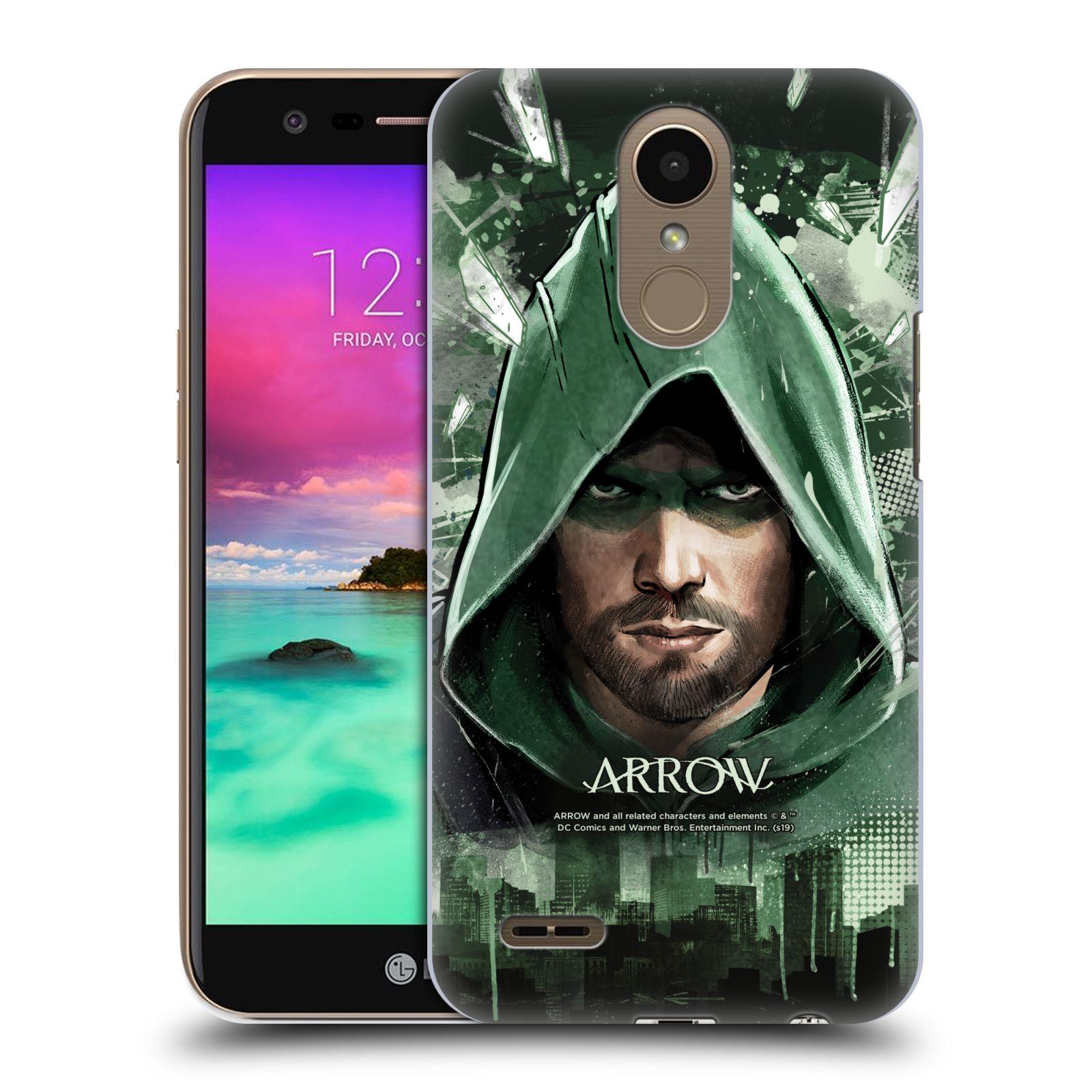 Pouzdro na mobil LG K10 2017 / K10 2017 DUAL SIM - HEAD CASE - Seriál Arrow - kreslený motiv