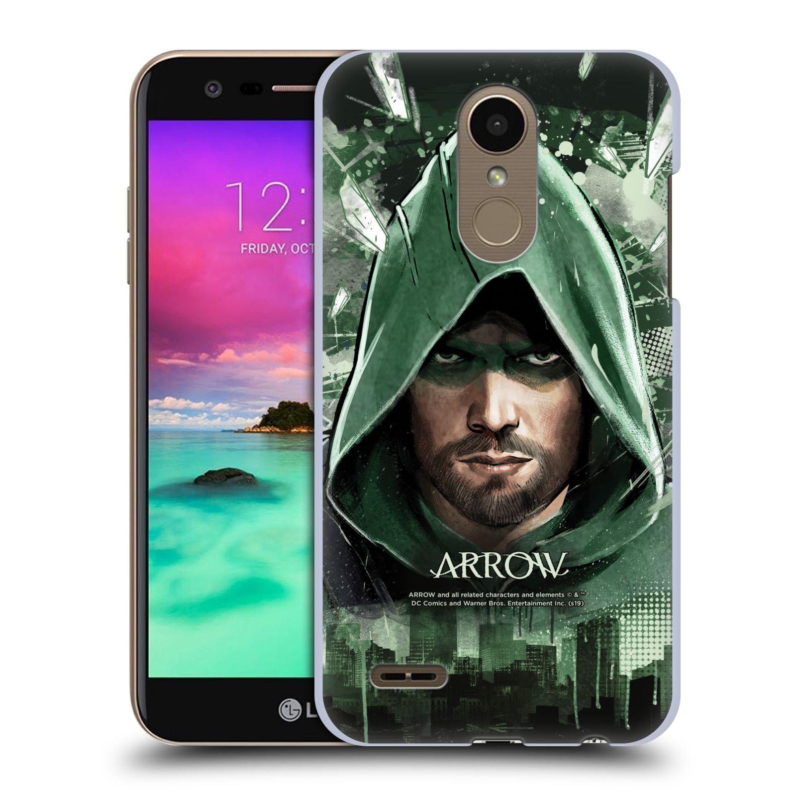 Pouzdro na mobil LG K10 2018 - HEAD CASE - Seriál Arrow - kreslený motiv