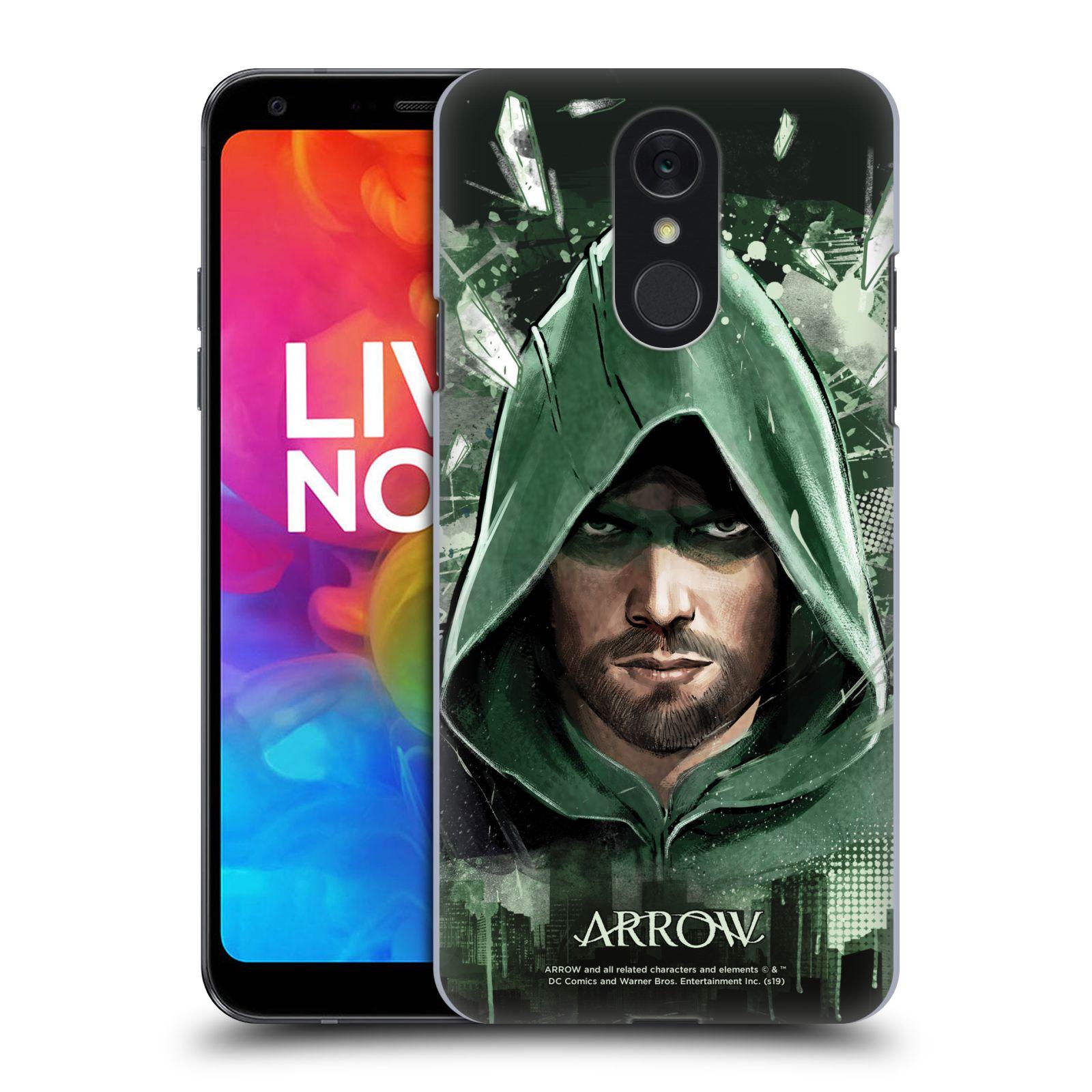 Pouzdro na mobil LG Q7 - HEAD CASE - Seriál Arrow - kreslený motiv