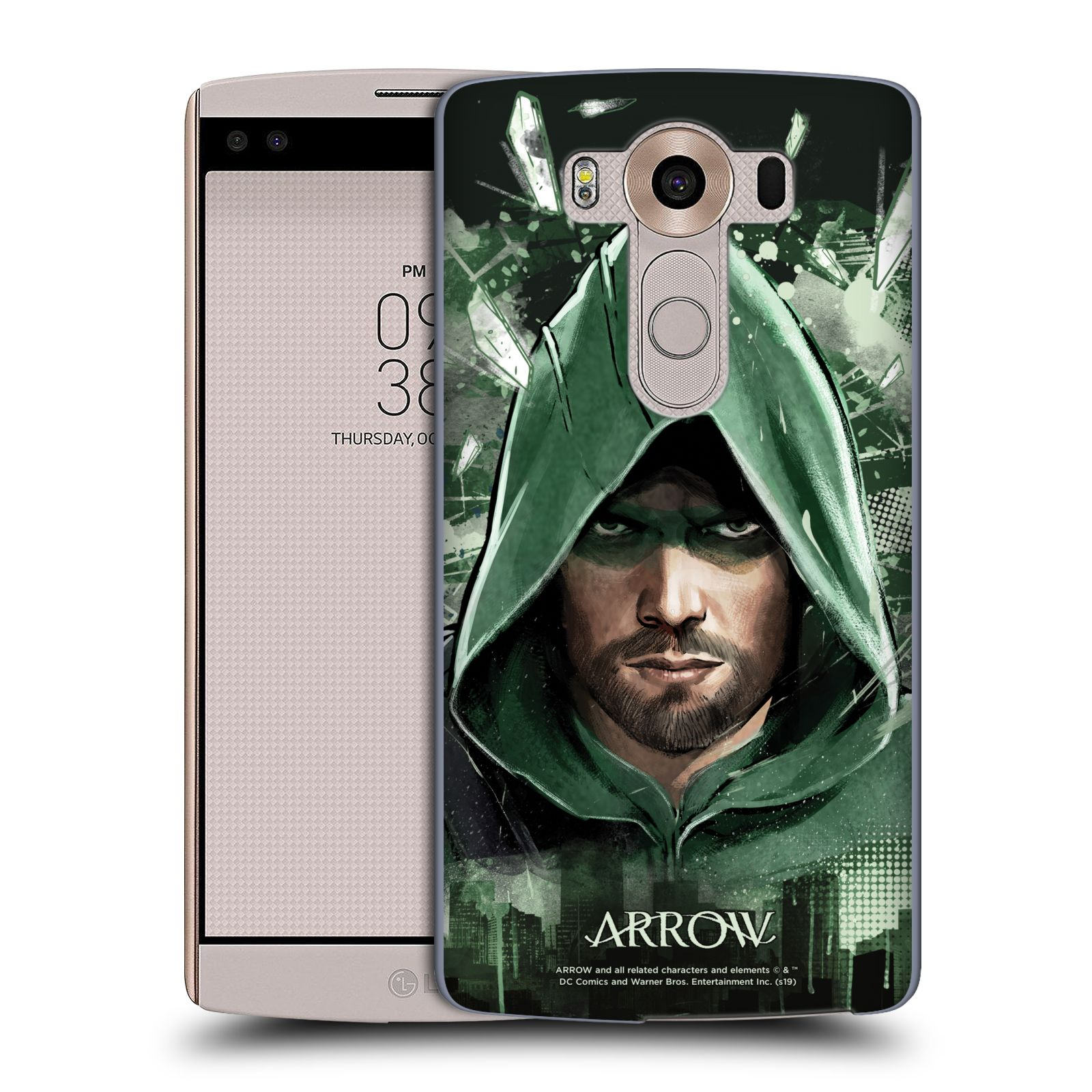 Pouzdro na mobil LG V10 - HEAD CASE - Seriál Arrow - kreslený motiv