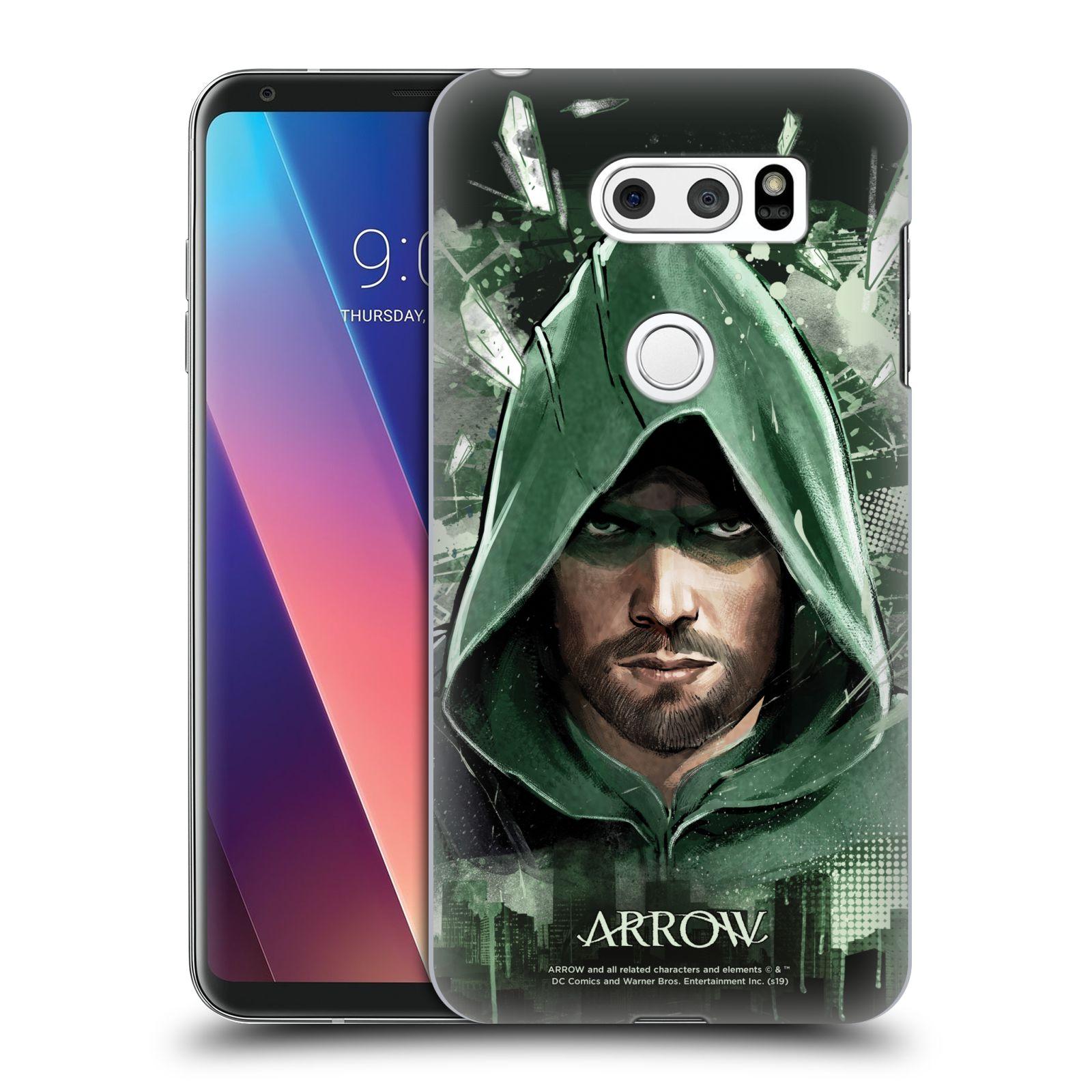 Pouzdro na mobil LG V30 - HEAD CASE - Seriál Arrow - kreslený motiv