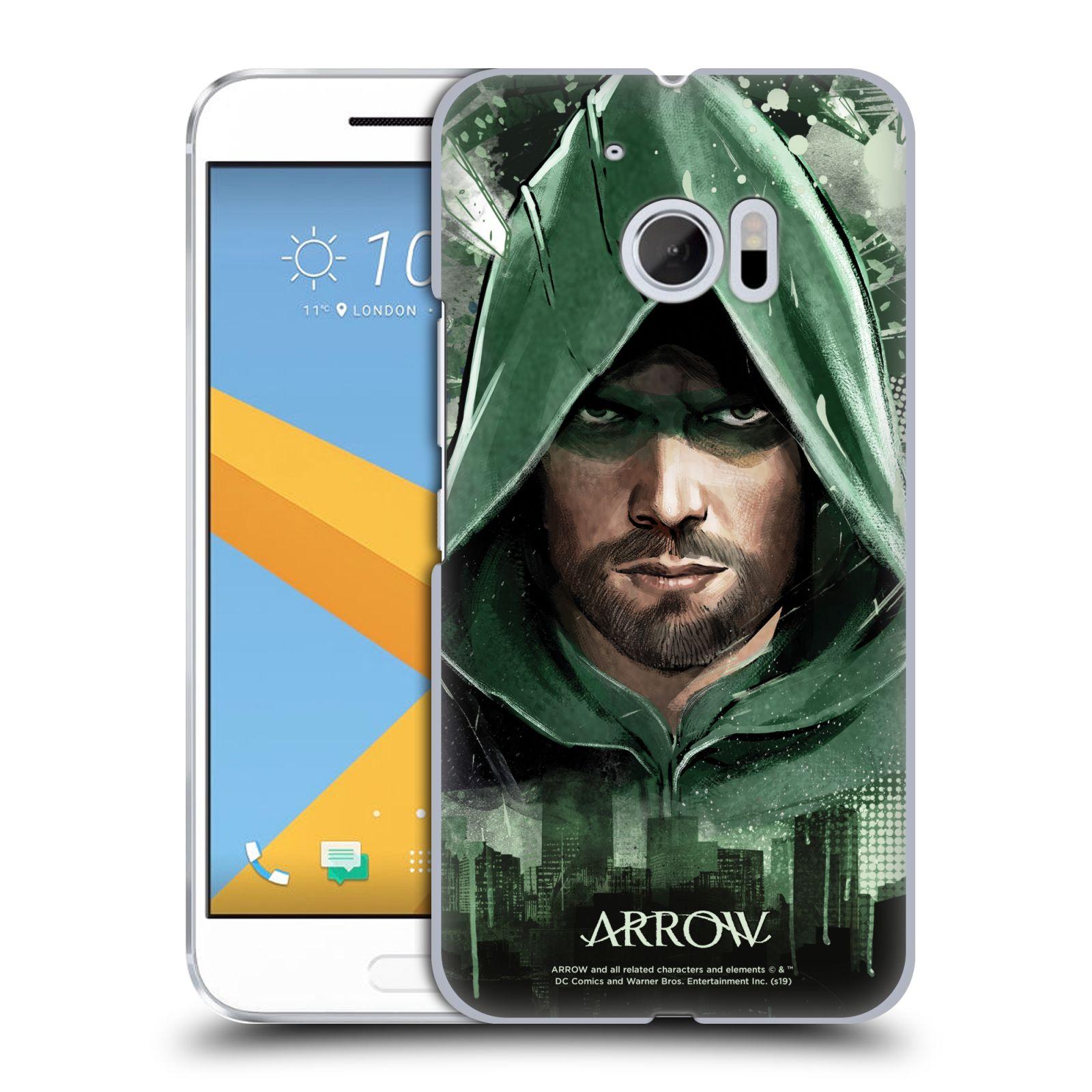Pouzdro na mobil HTC 10 - HEAD CASE - Seriál Arrow - kreslený motiv