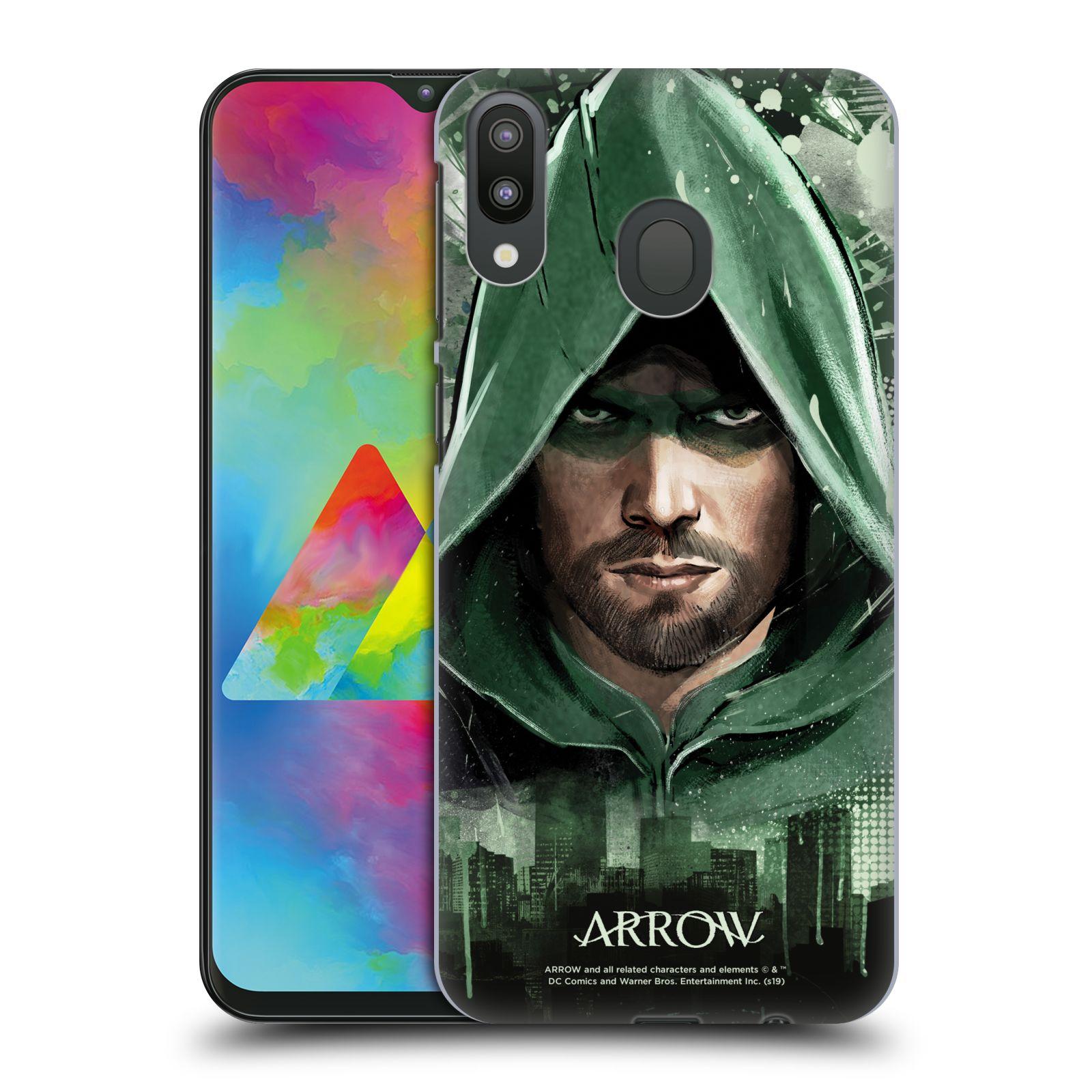 Pouzdro na mobil Samsung Galaxy M20 - HEAD CASE - Seriál Arrow - kreslený motiv