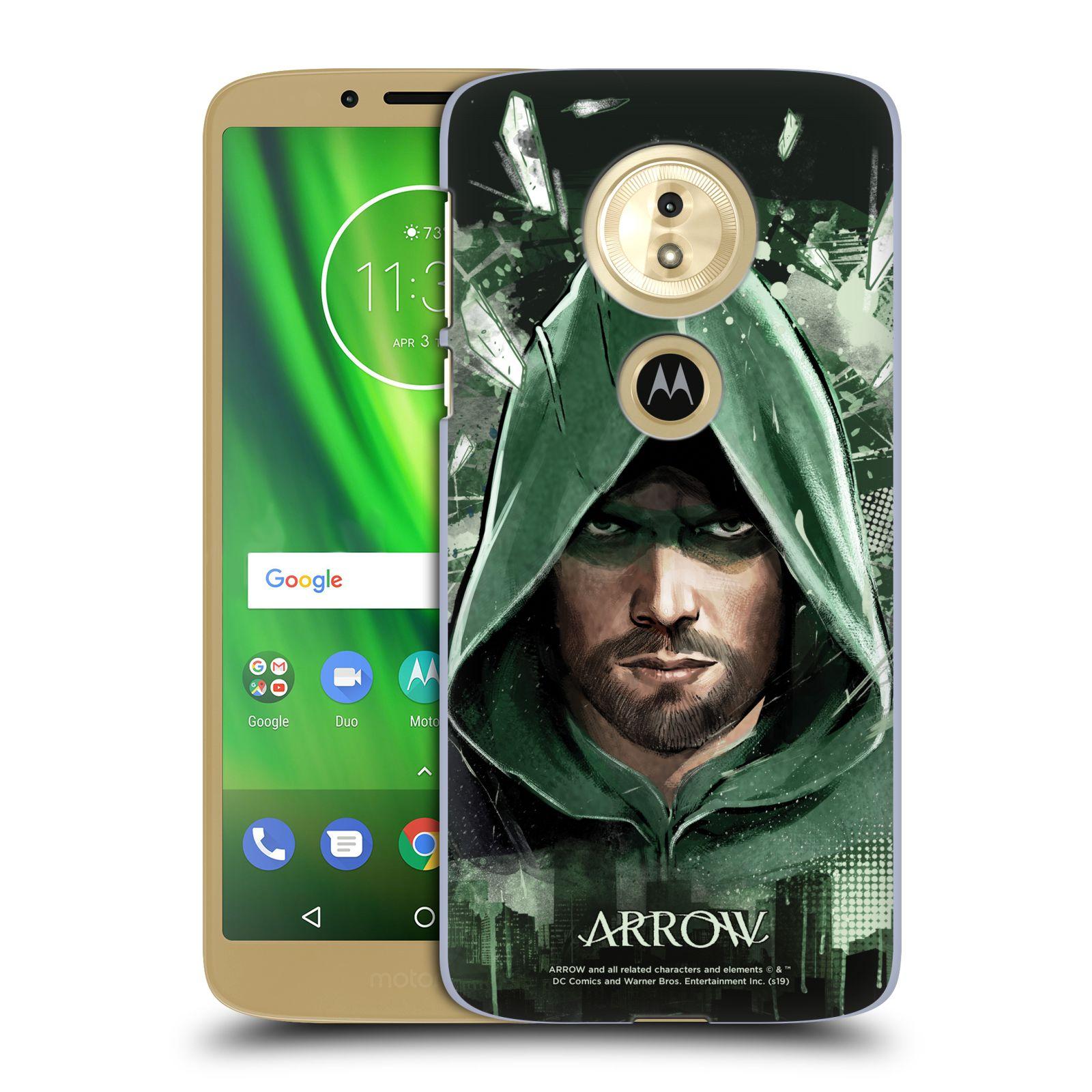 Pouzdro na mobil Motorola Moto E5 - HEAD CASE - Seriál Arrow - kreslený motiv