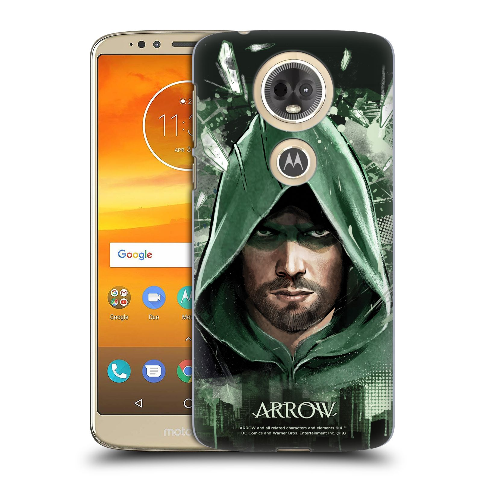 Pouzdro na mobil Motorola Moto E5 PLUS - HEAD CASE - Seriál Arrow - kreslený motiv