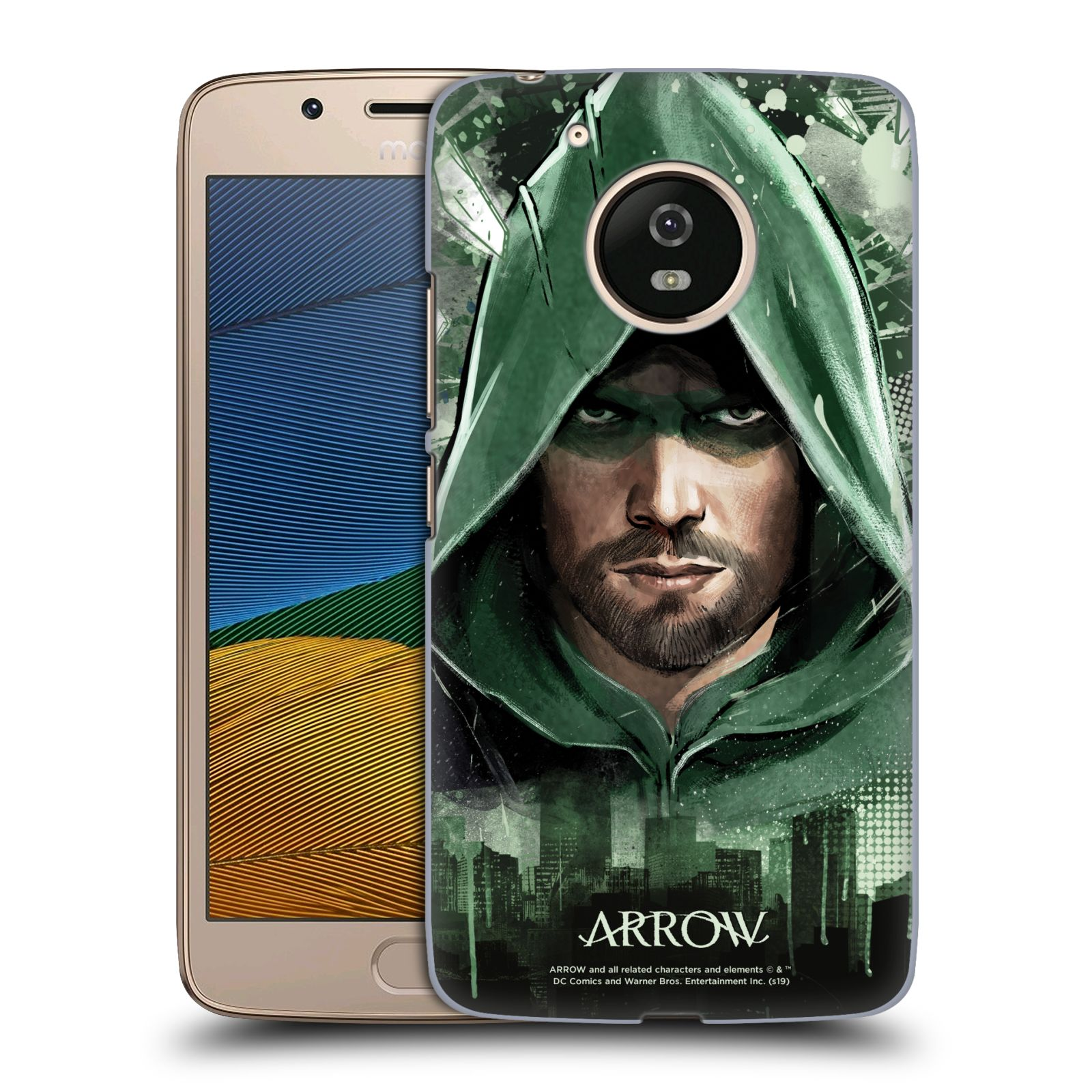 Pouzdro na mobil Lenovo Moto G5 - HEAD CASE - Seriál Arrow - kreslený motiv