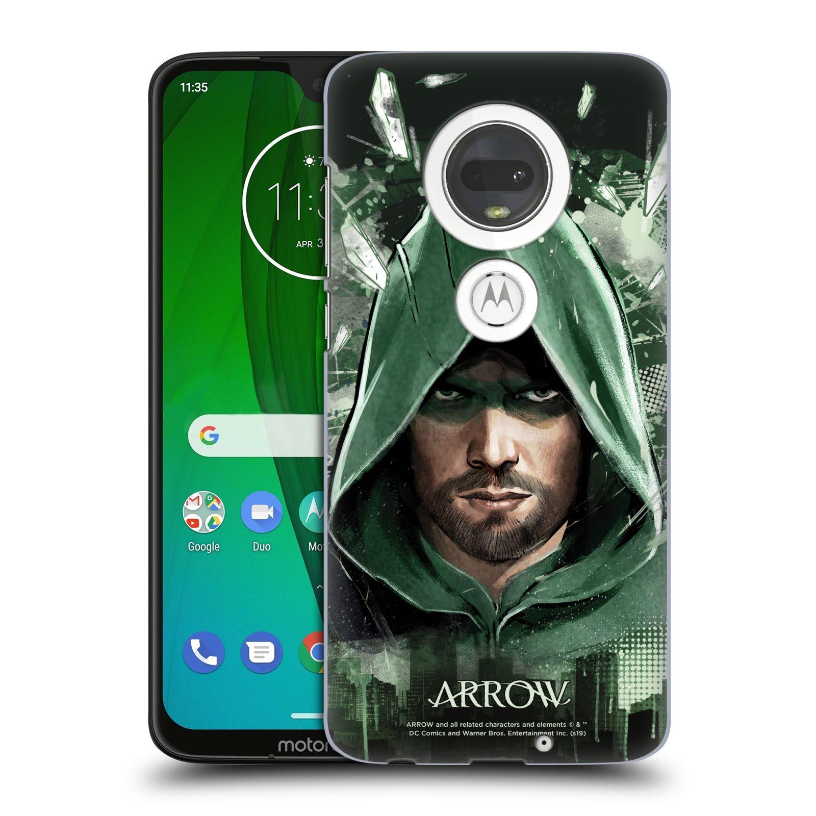 Pouzdro na mobil Motorola Moto G7 - HEAD CASE - Seriál Arrow - kreslený motiv