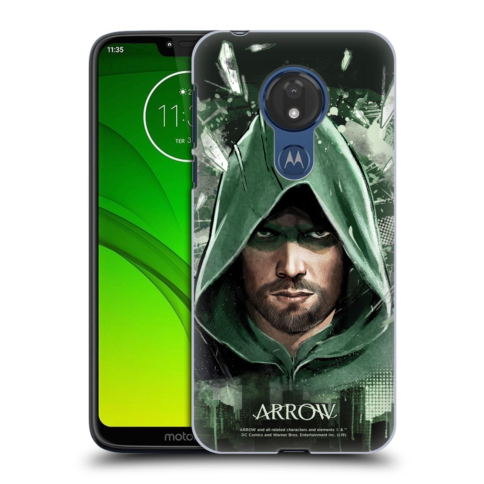 Pouzdro na mobil Motorola Moto G7 POWER - HEAD CASE - Seriál Arrow - kreslený motiv