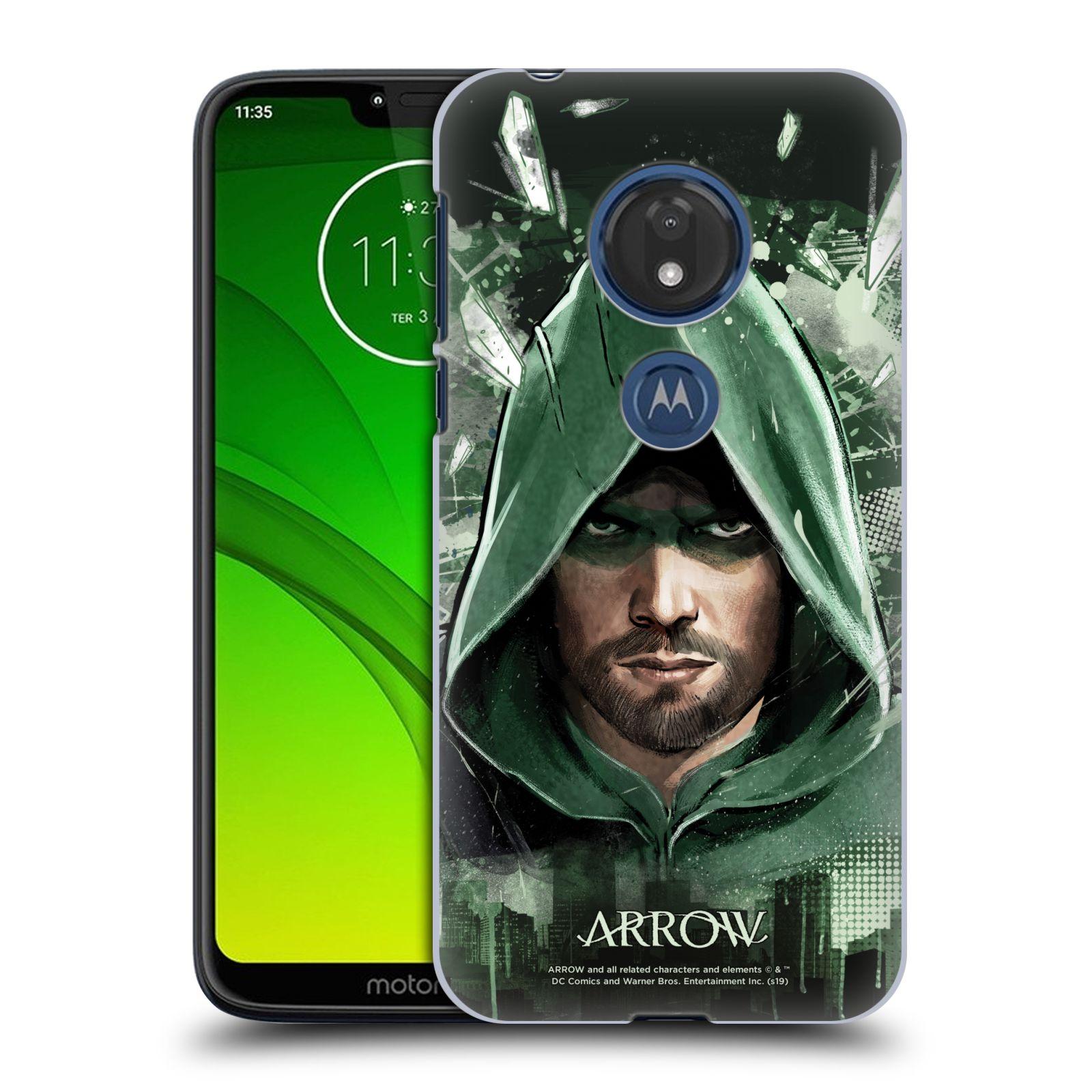 Pouzdro na mobil Motorola Moto G7 Play - HEAD CASE - Seriál Arrow - kreslený motiv