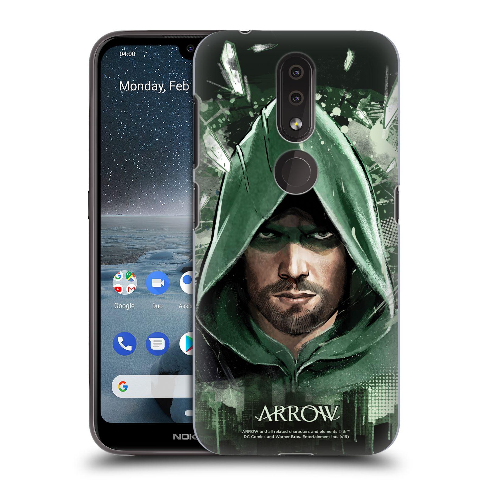 Pouzdro na mobil Nokia 4.2 - HEAD CASE - Seriál Arrow - kreslený motiv