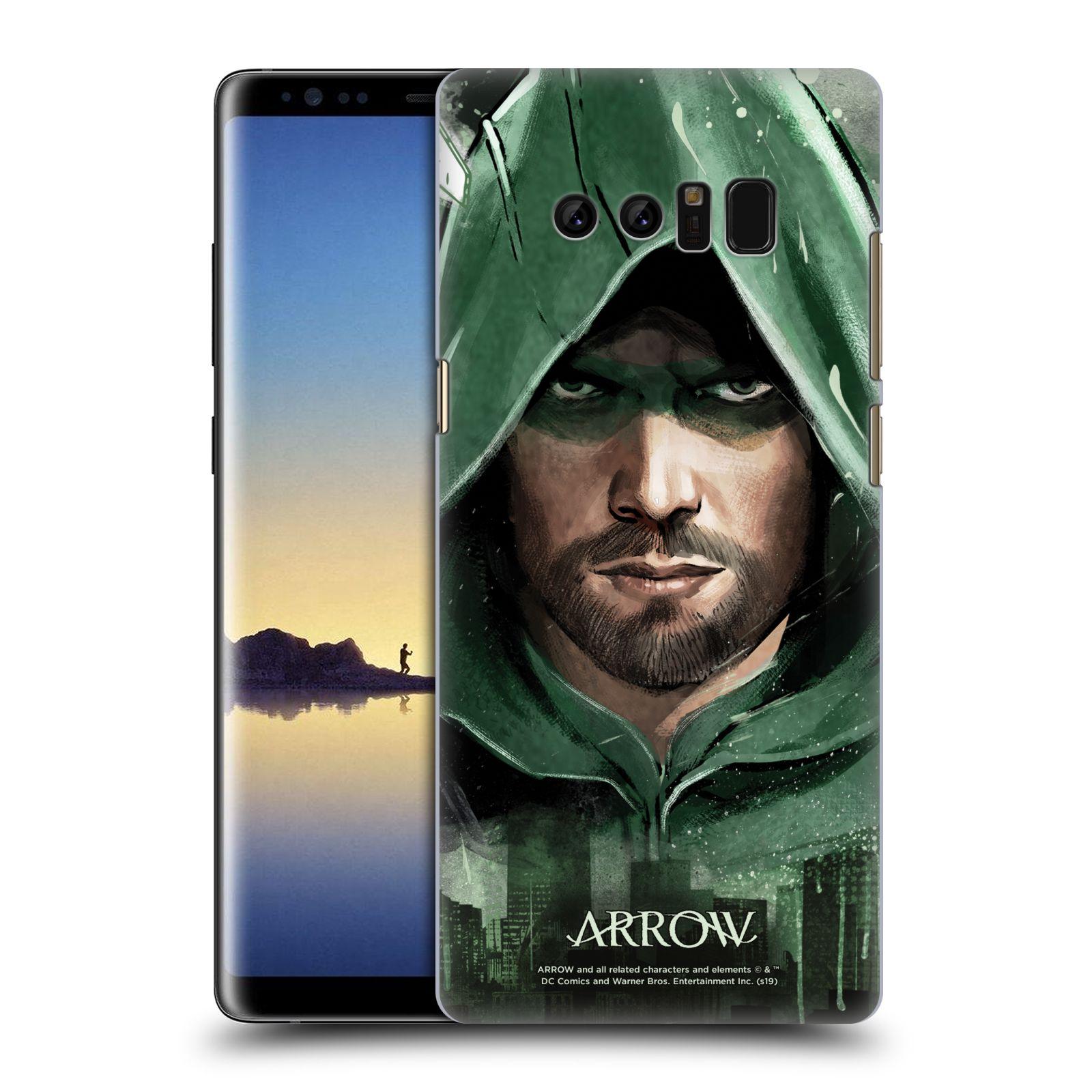 Pouzdro na mobil Samsung Galaxy Note 8 - HEAD CASE - Seriál Arrow - kreslený motiv