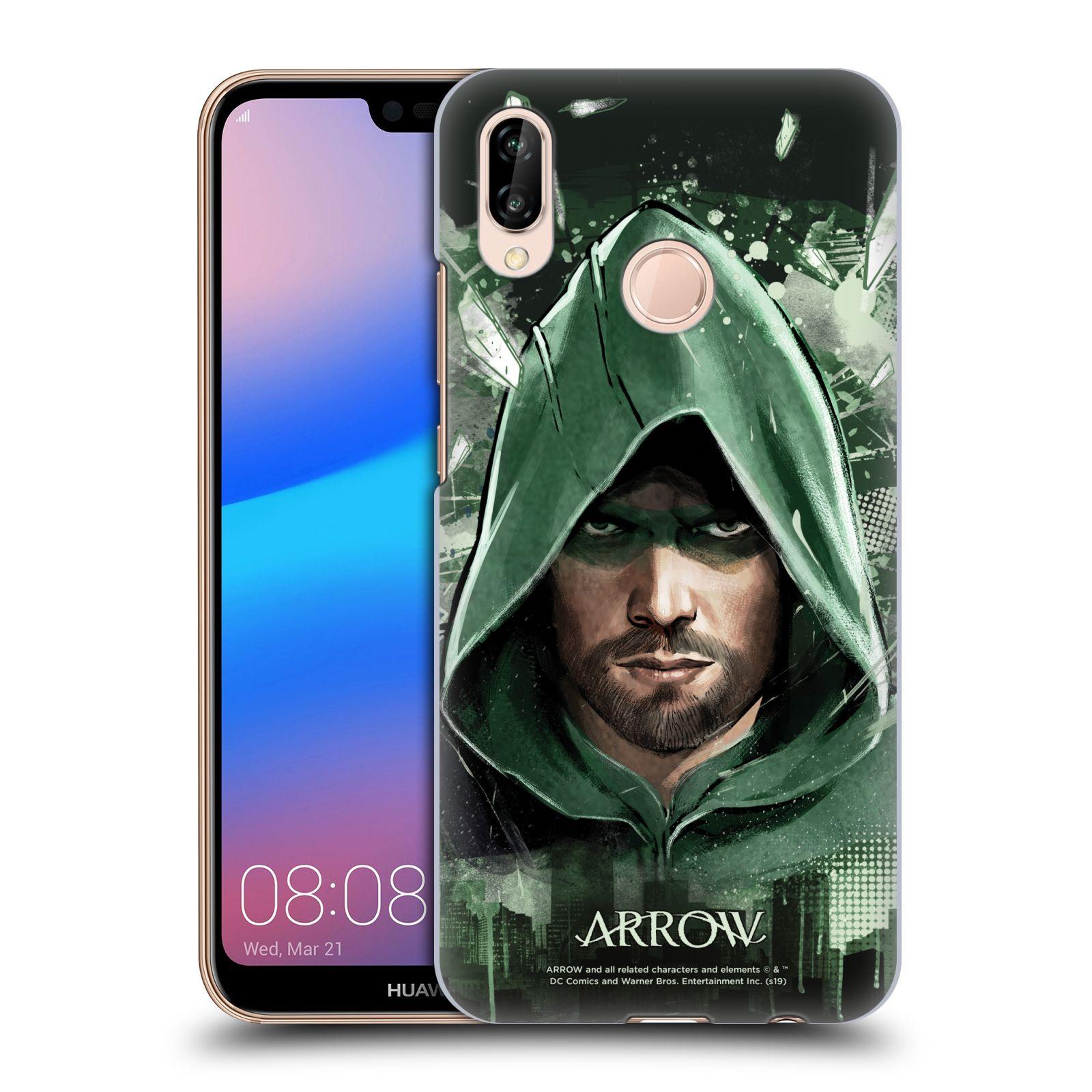 Pouzdro na mobil Huawei P20 LITE - HEAD CASE - Seriál Arrow - kreslený motiv