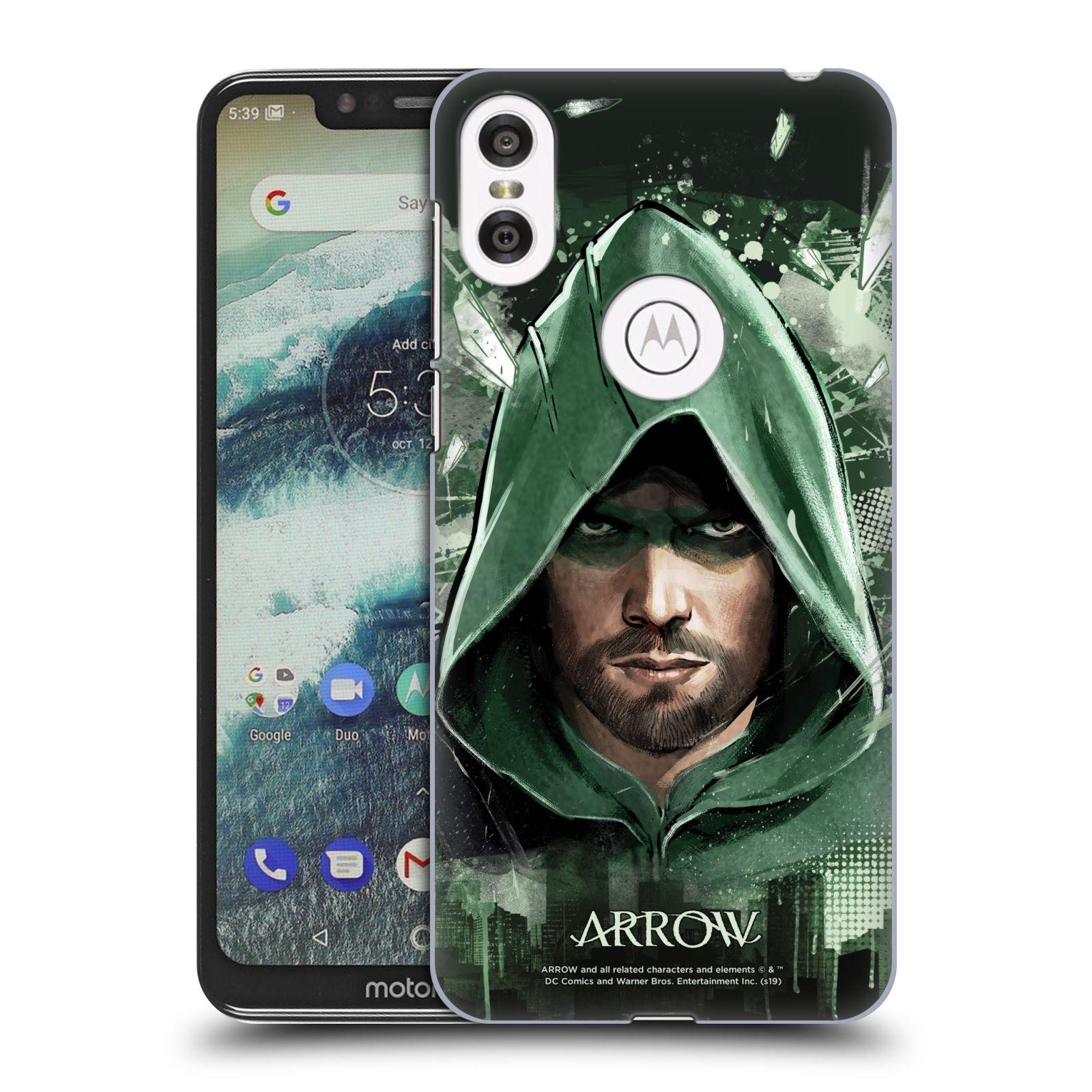 Pouzdro na mobil Motorola Moto ONE - HEAD CASE - Seriál Arrow - kreslený motiv