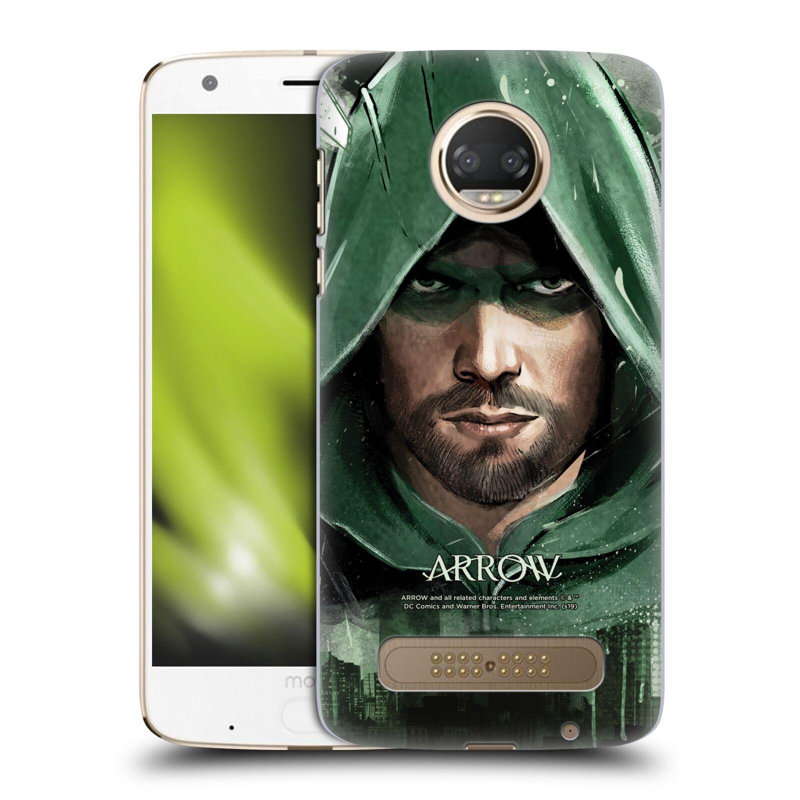 Pouzdro na mobil Motorola Moto Z2 PLAY - HEAD CASE - Seriál Arrow - kreslený motiv