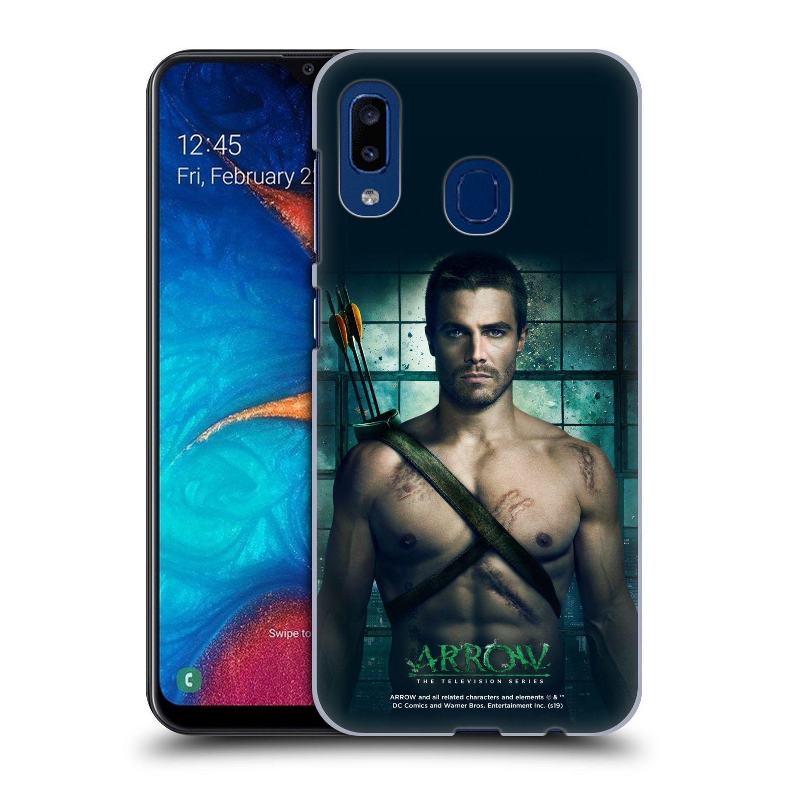 Pouzdro na mobil Samsung Galaxy A20 - HEAD CASE - Seriál Arrow -Oliver Queen